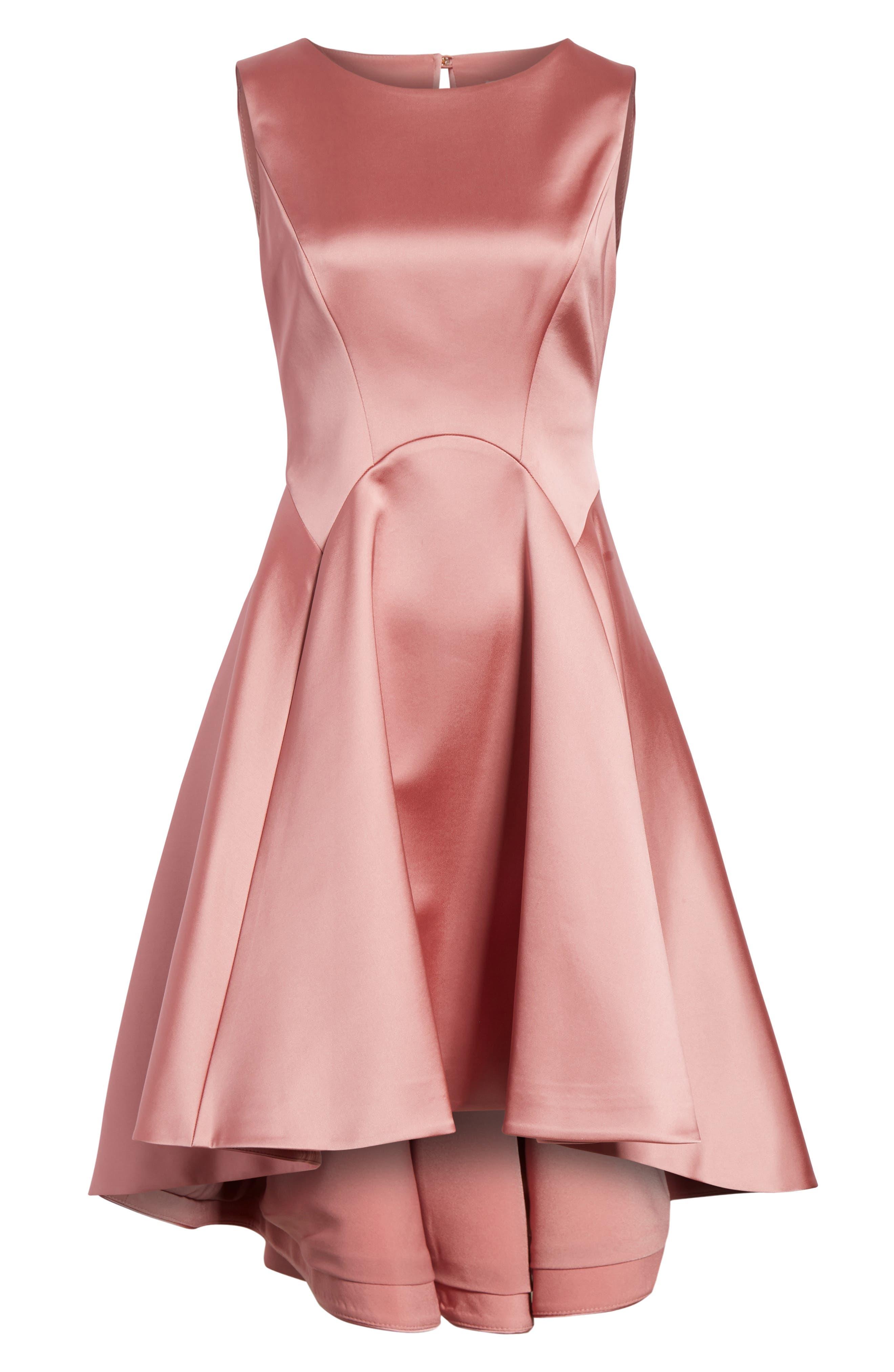 Rhubi High/Low Dress,                             Alternate thumbnail 6, color,                             Pink