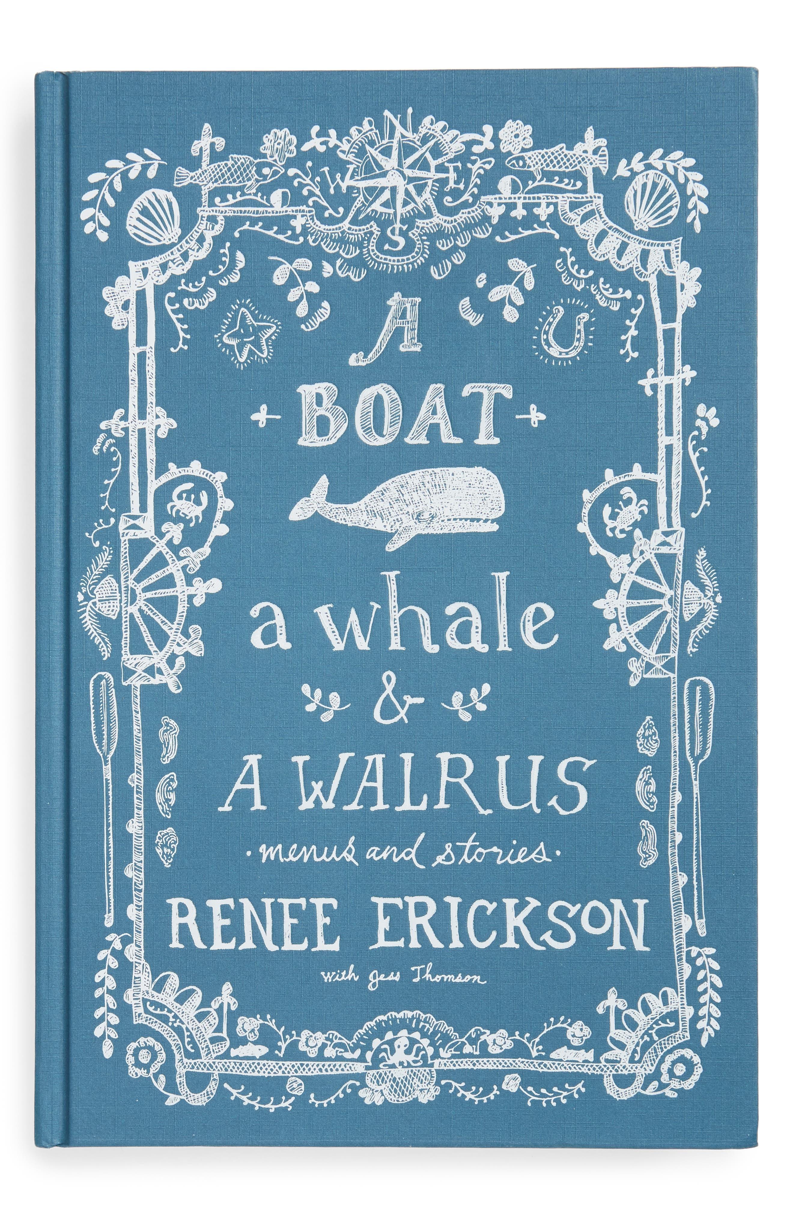 'A Boat, a Whale & a Walrus: Menus & Stories' Book,                         Main,                         color, Blue