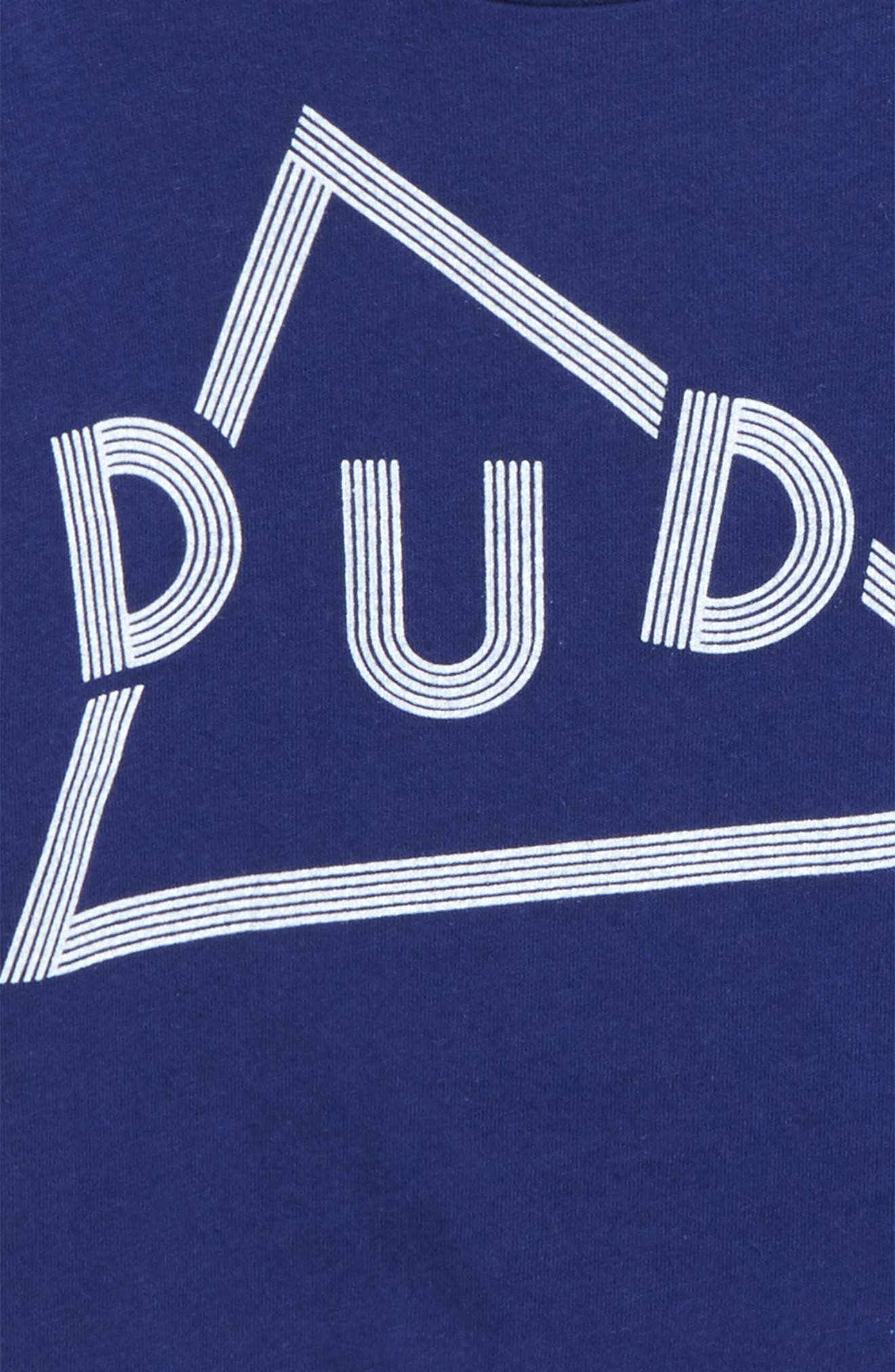 Dude Graphic T-Shirt,                             Alternate thumbnail 2, color,                             Navy