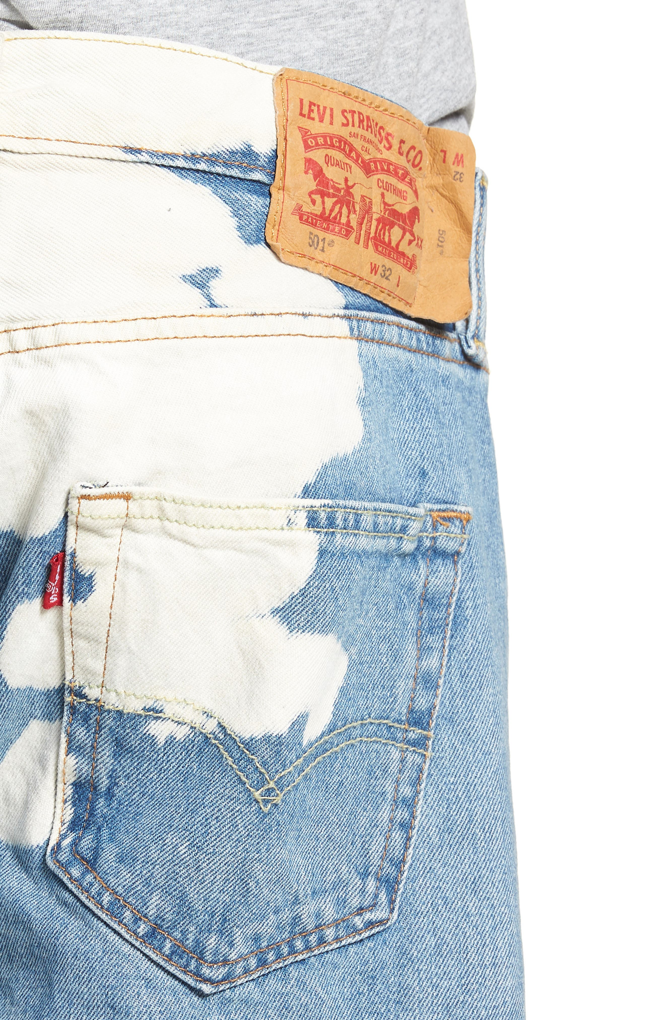 501<sup>®</sup> Cutoff Denim Shorts,                             Alternate thumbnail 4, color,                             Lifes A Bleach
