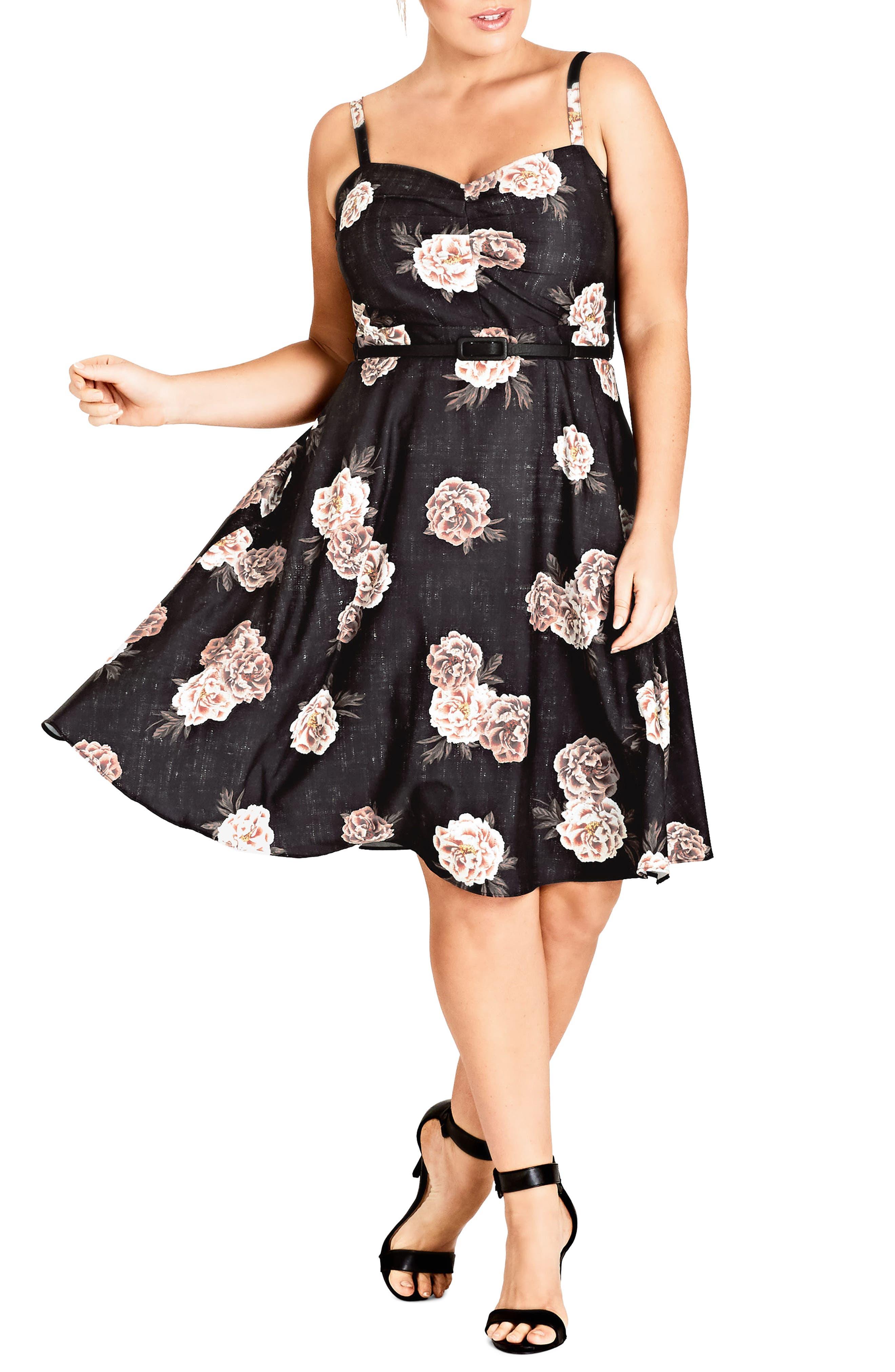 Antique Rose A-Line Dress,                         Main,                         color, Antique Rose