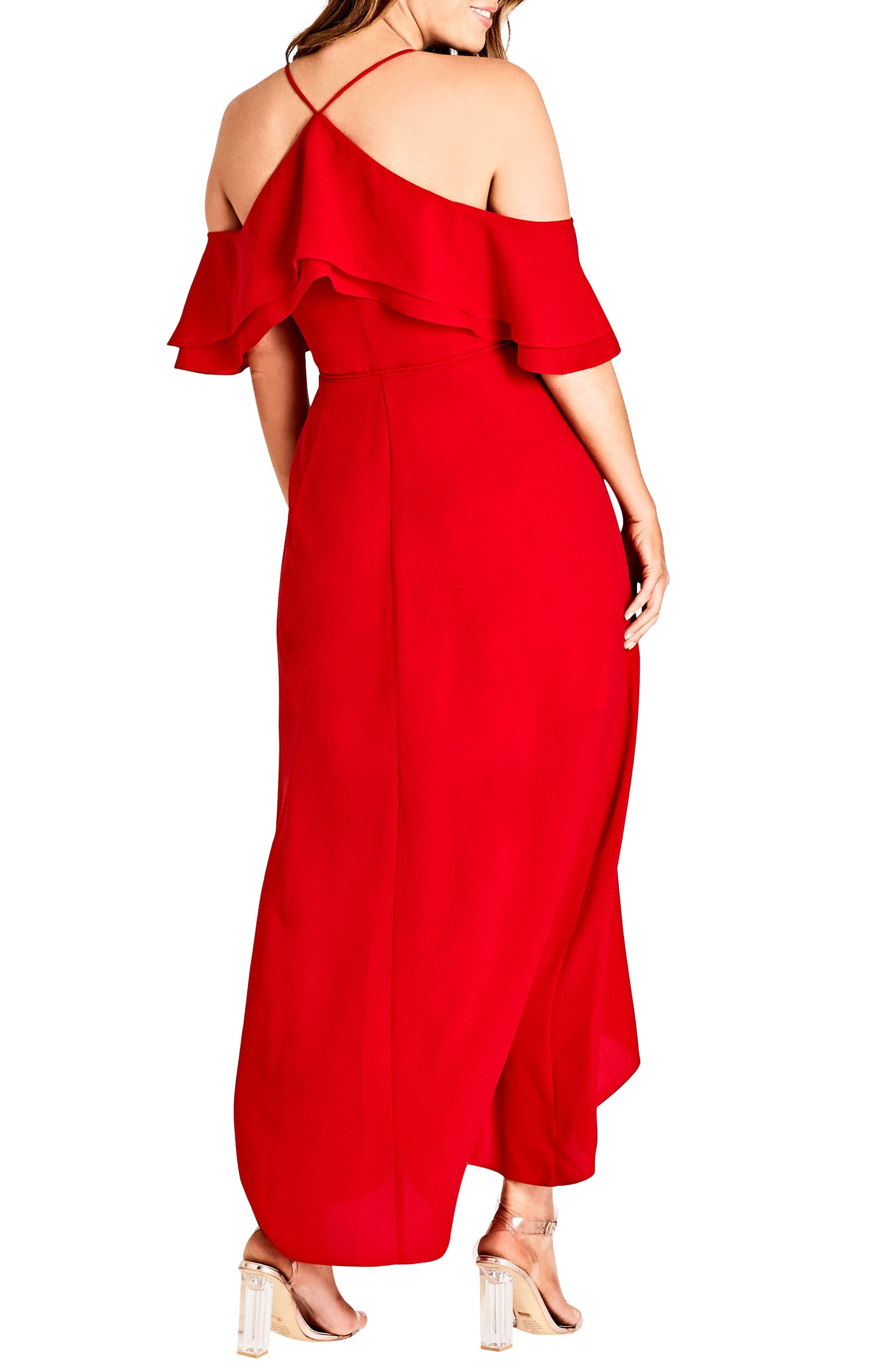 Miss Jessica Maxi Dress,                             Alternate thumbnail 2, color,                             Scarlet