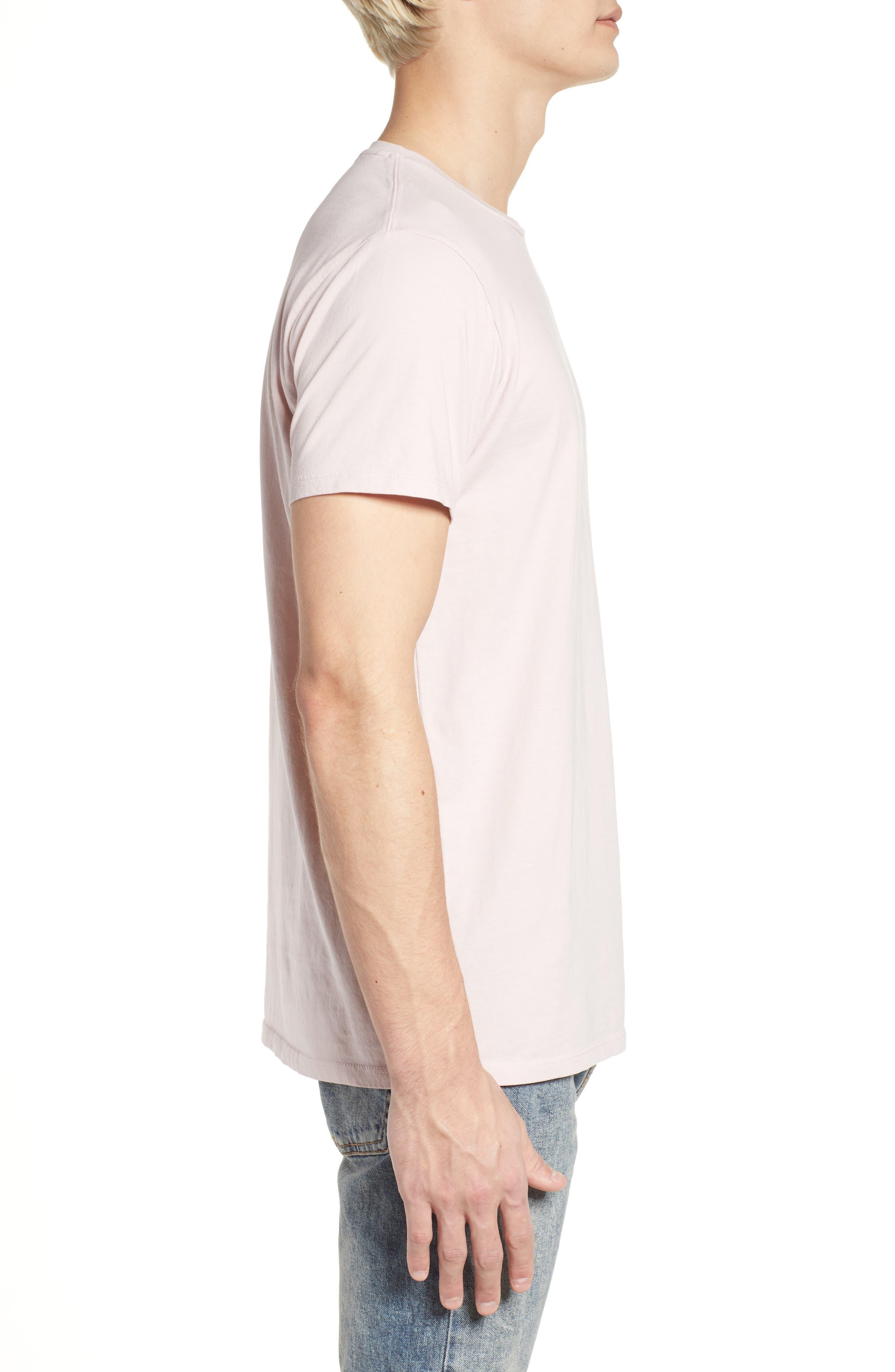 Classic Crewneck T-Shirt,                             Alternate thumbnail 3, color,                             Pink Ash