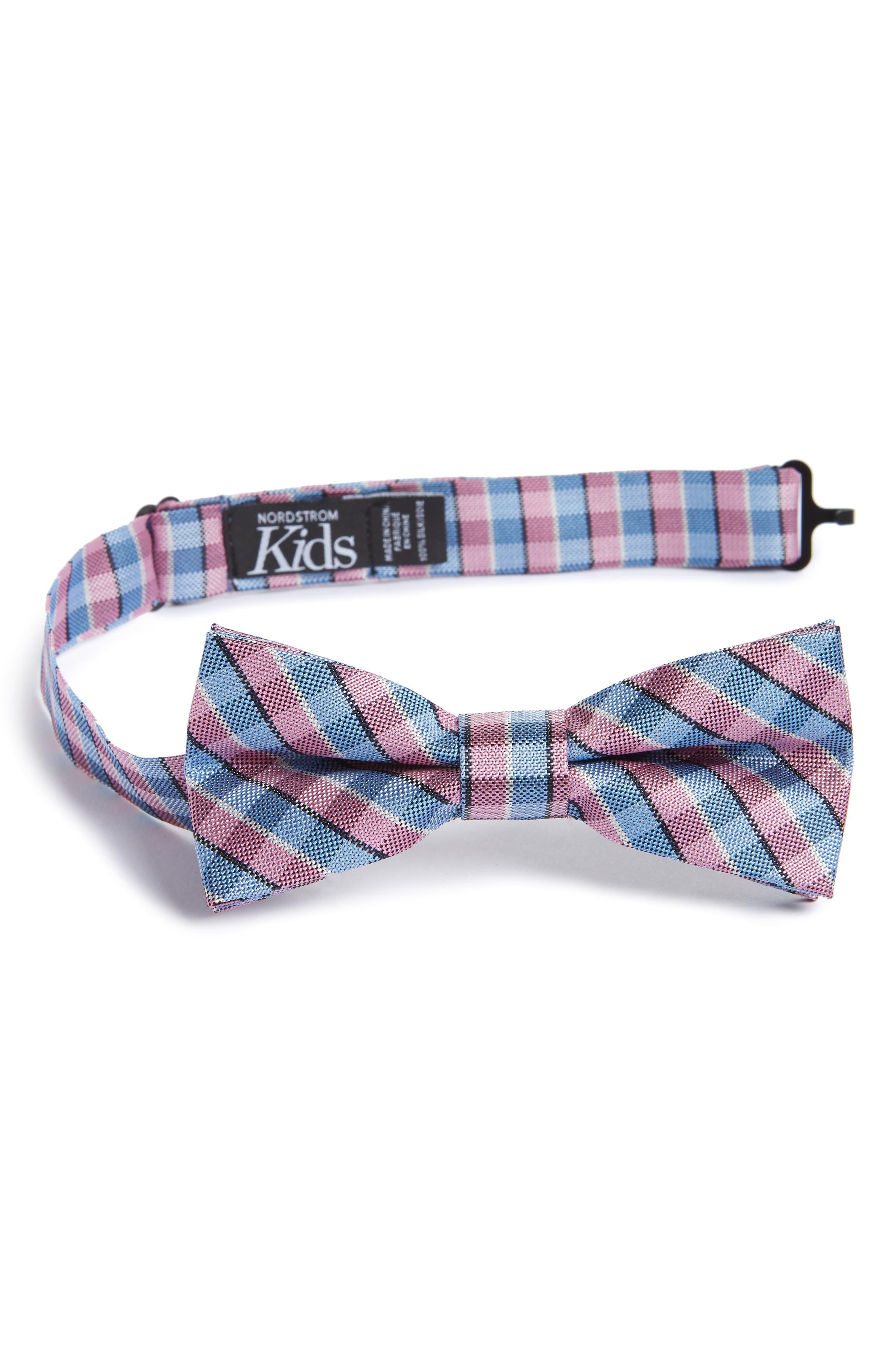 Nordstrom Circus Check Silk Bow Tie (Big Boys)