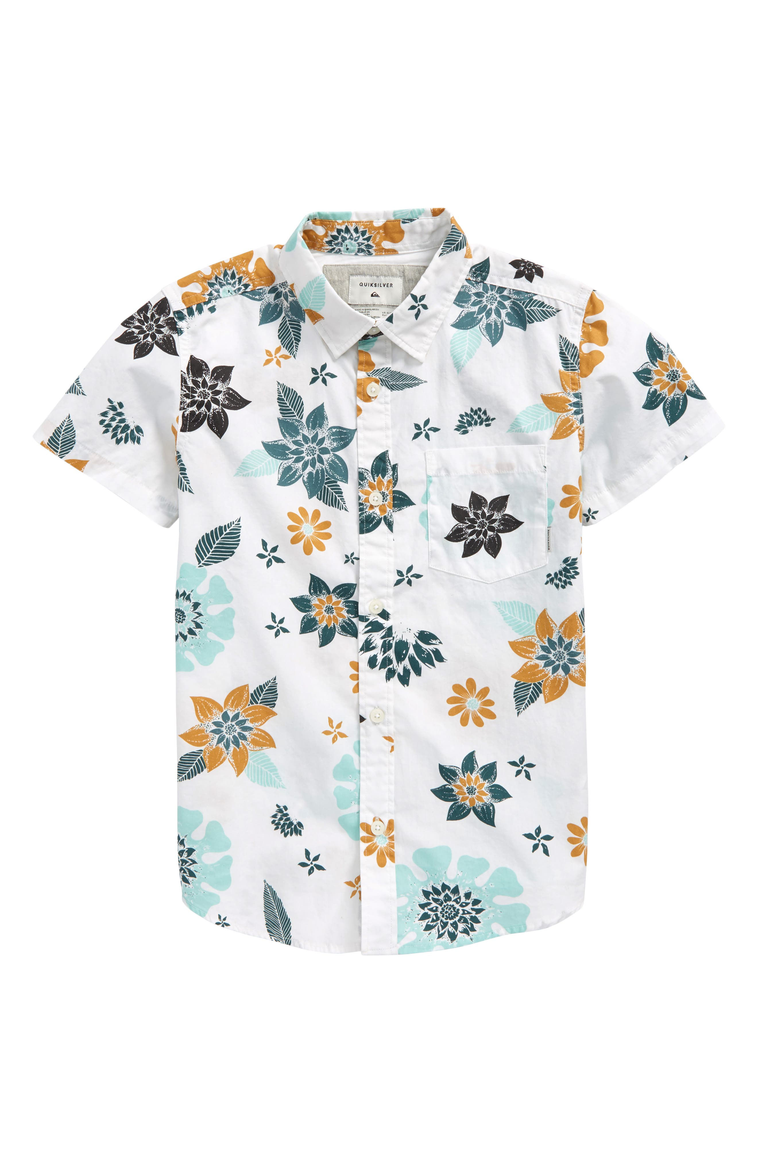 Main Image - Quiksilver Sunset Floral Woven Top (Big Boys)