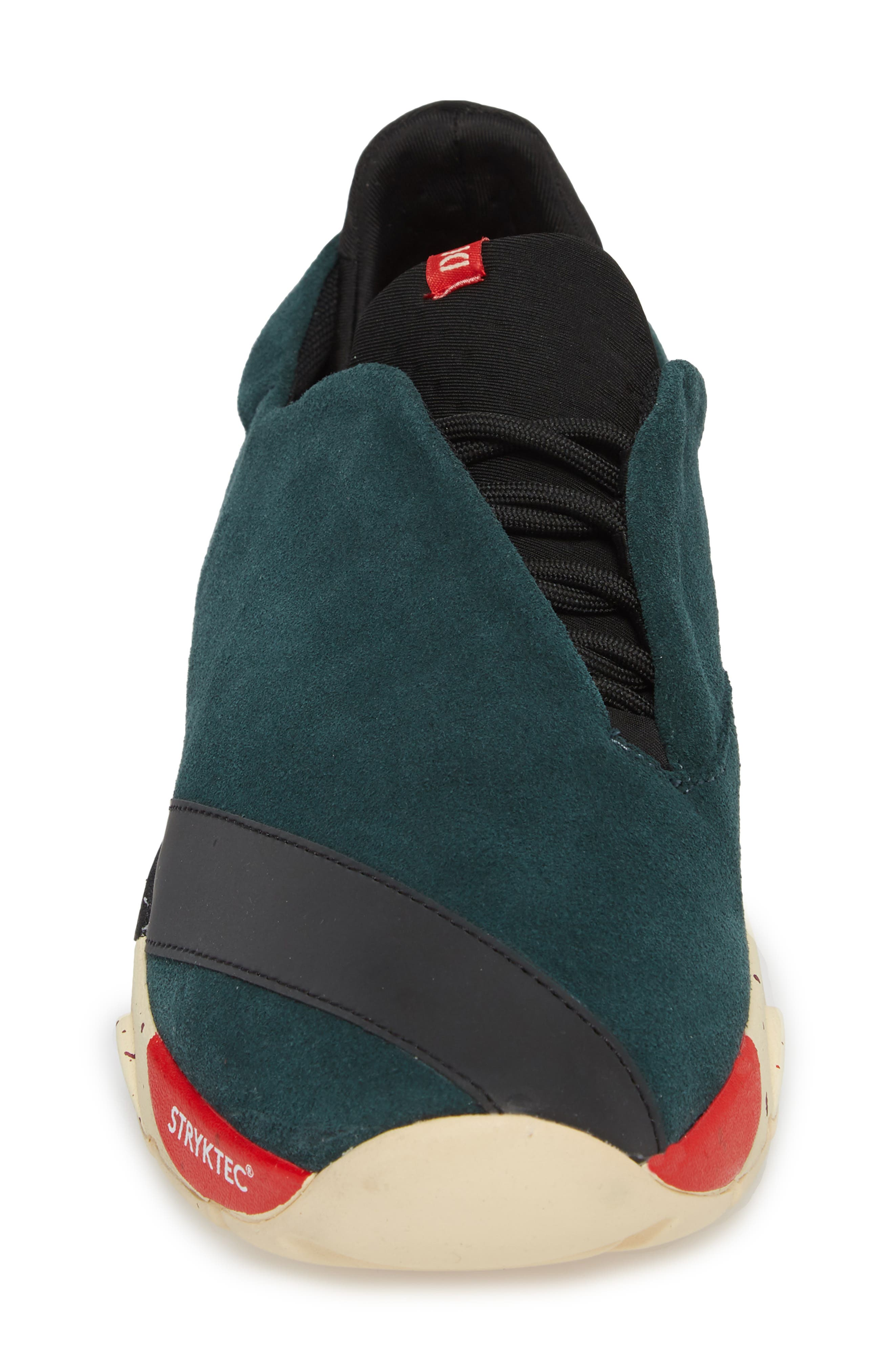 The Alpha Sneaker,                             Alternate thumbnail 4, color,                             Sequoia Green Leather