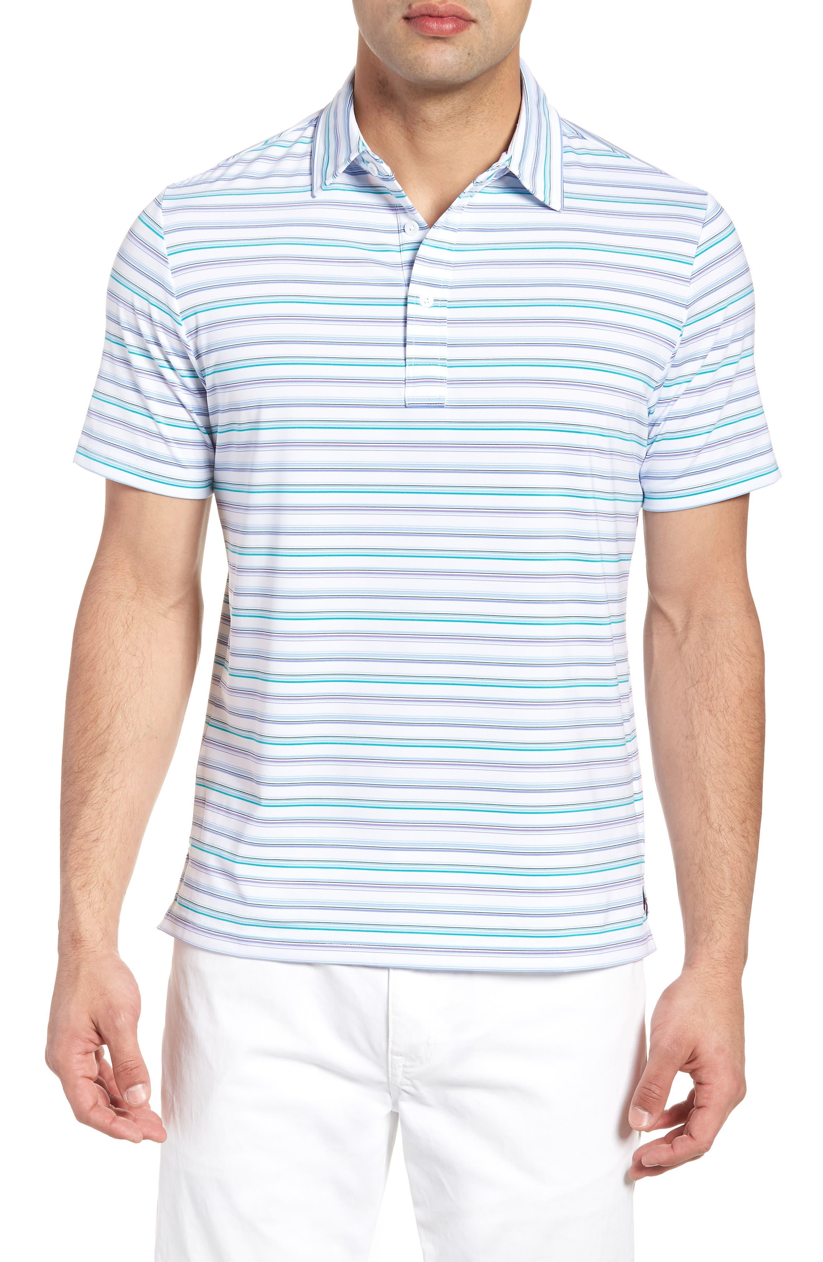 Knit Polo,                         Main,                         color, White