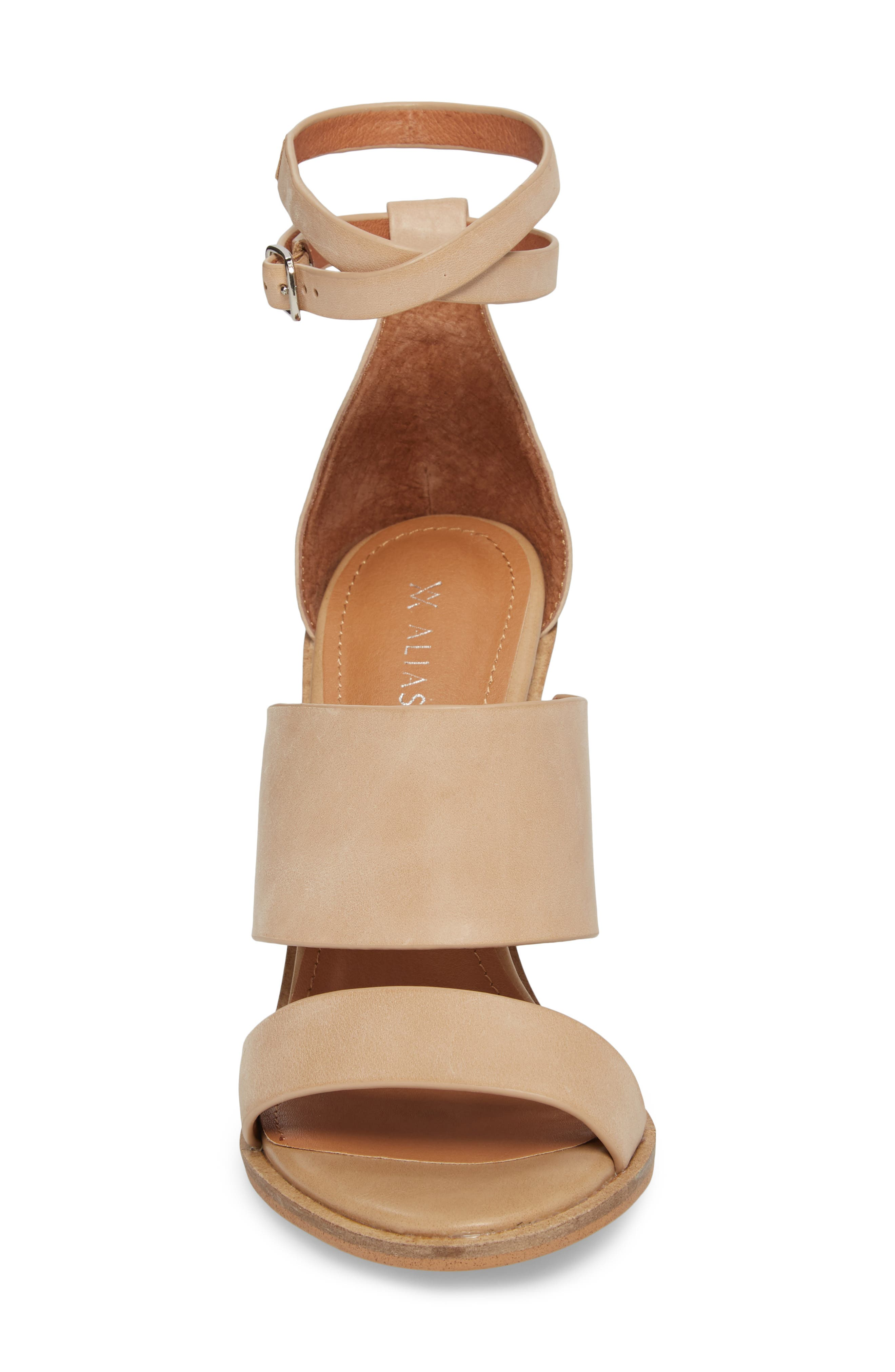 Admiral Ankle Wrap Sandal,                             Alternate thumbnail 4, color,                             Natural Leather