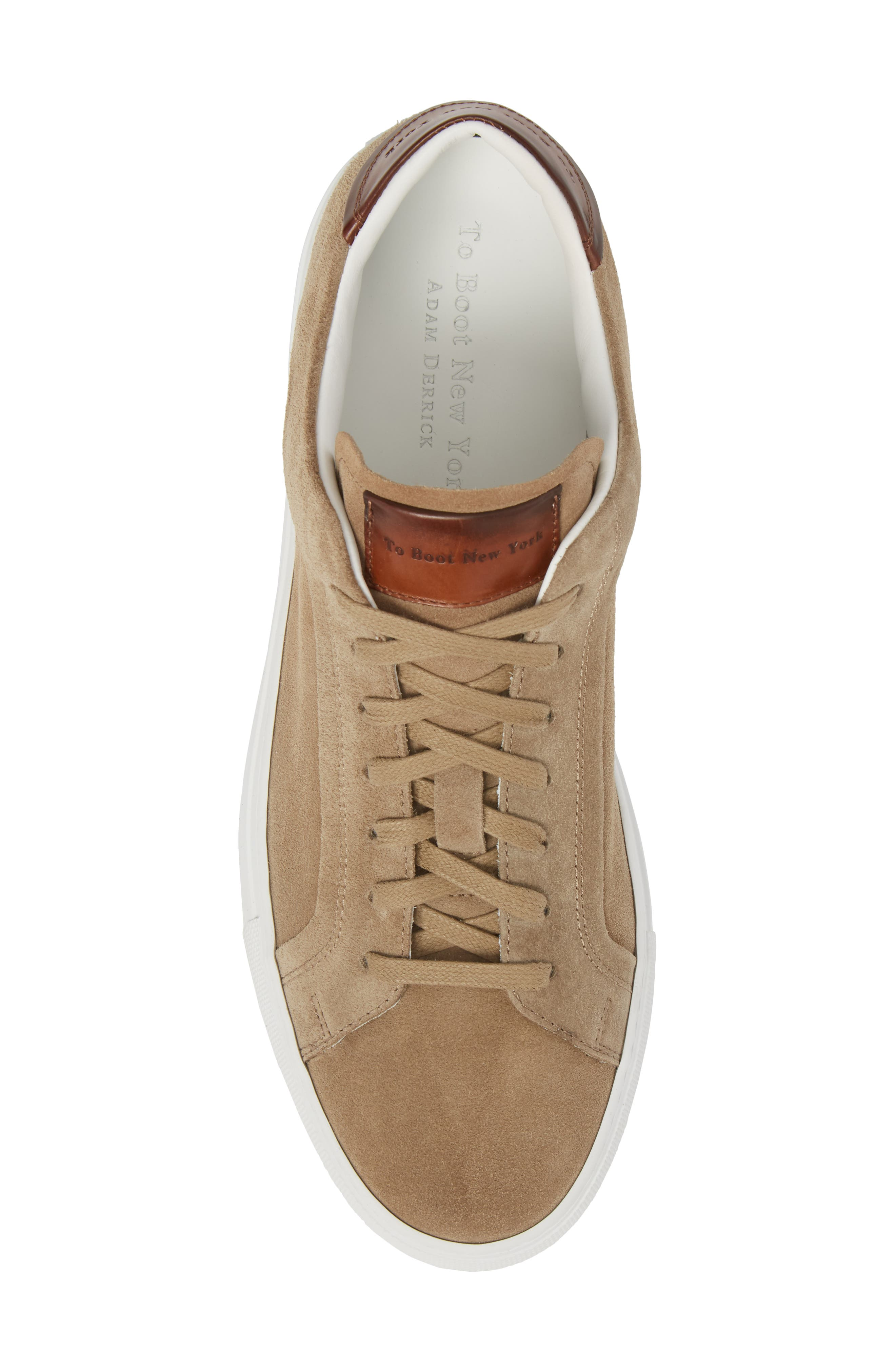 Britt Low Top Sneaker,                             Alternate thumbnail 5, color,                             Tan Suede