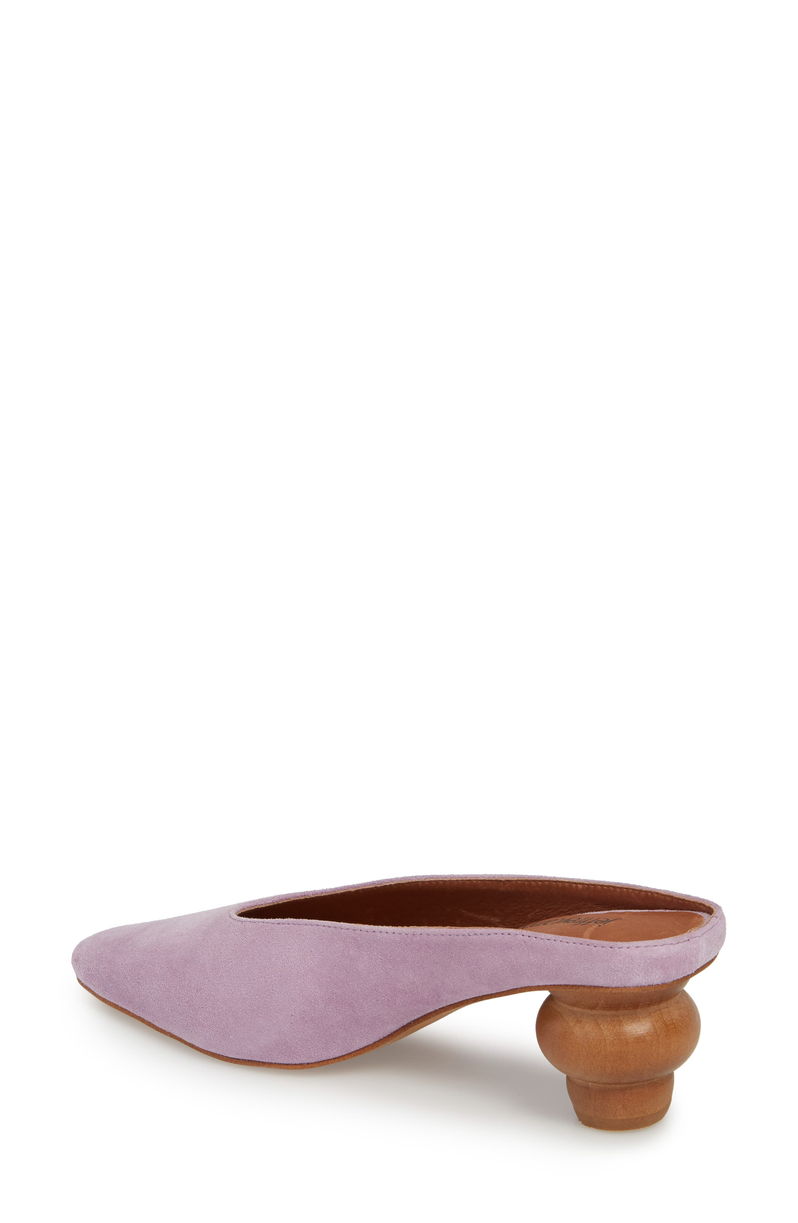 Cryptic Statement Heel Mule,                             Alternate thumbnail 2, color,                             Lilac Suede