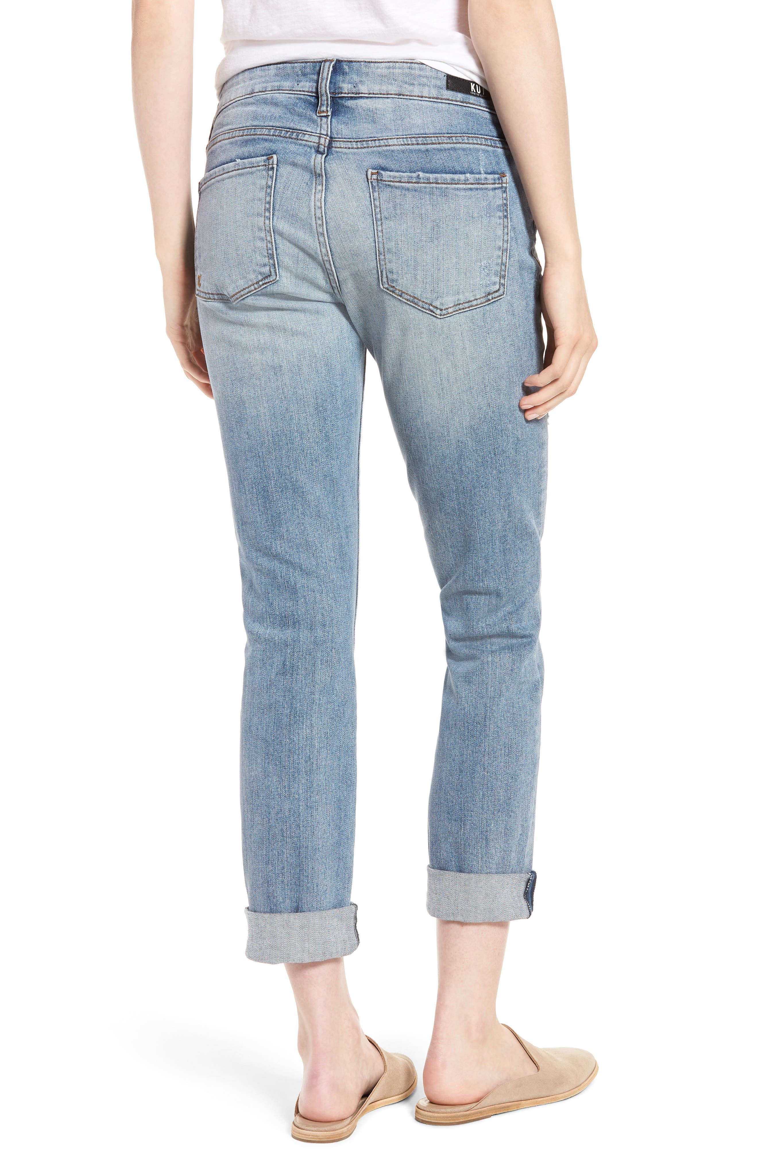 Alternate Image 2  - KUT from the Kloth Catherine Distressed Boyfriend Jeans (Announce)