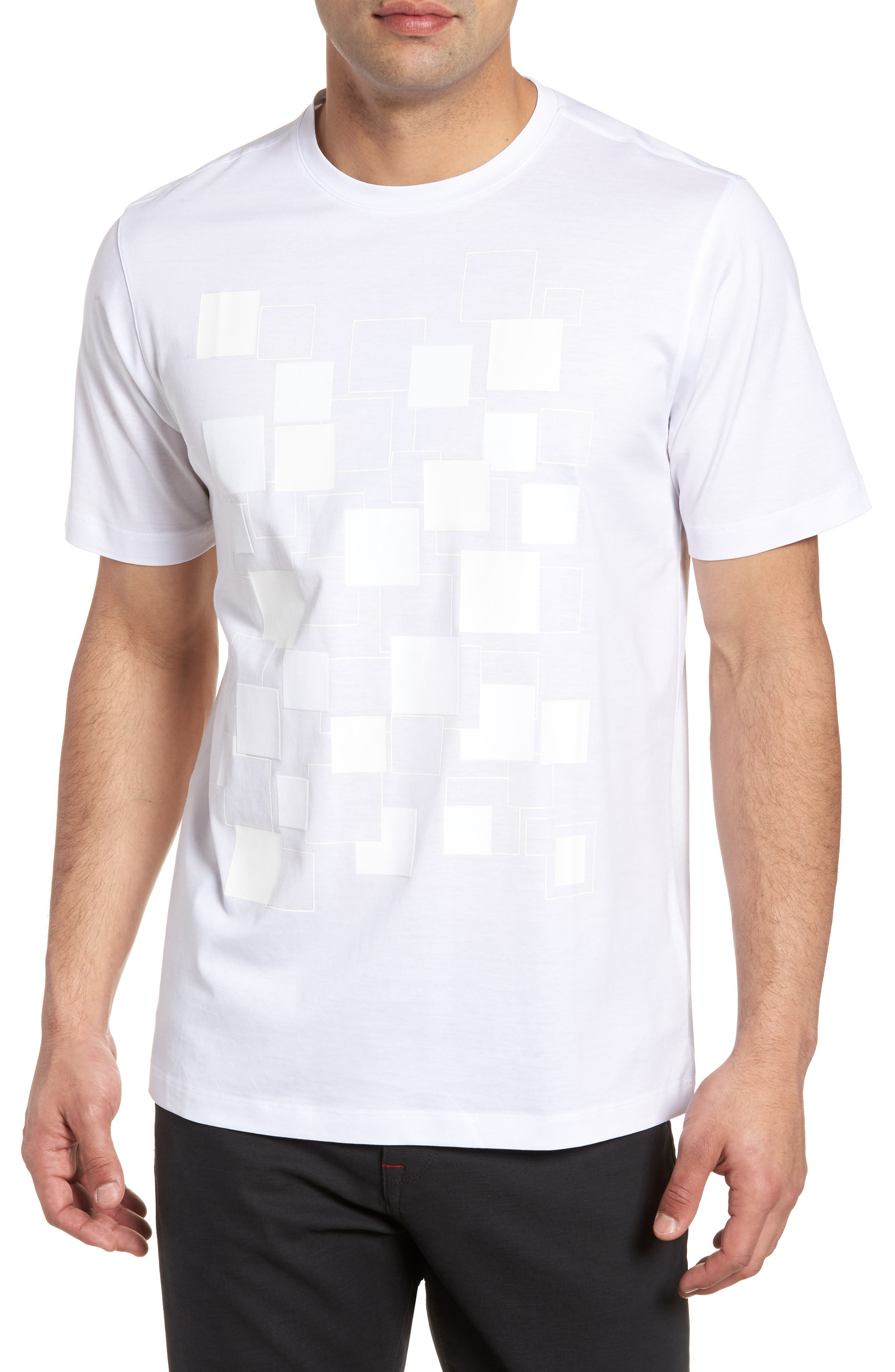 Crewneck T-Shirt,                         Main,                         color, White