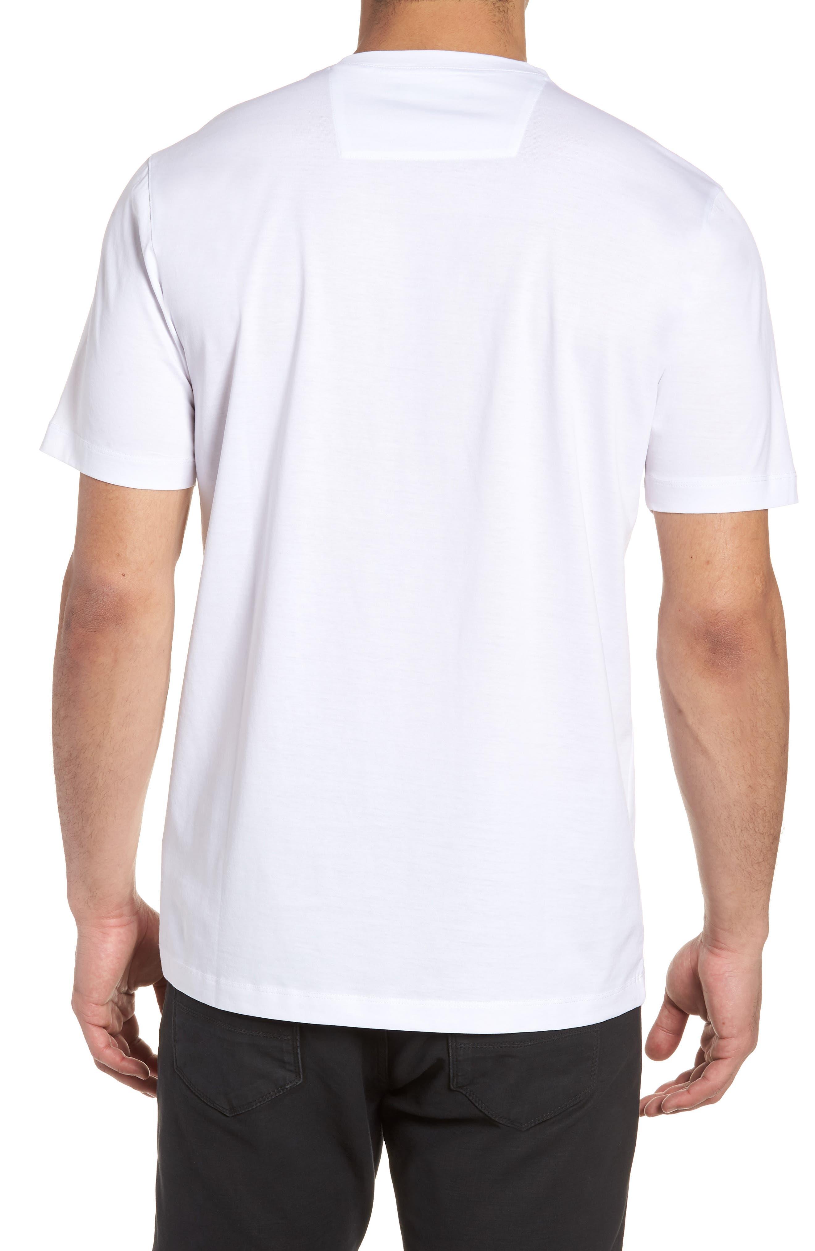 Crewneck T-Shirt,                             Alternate thumbnail 2, color,                             White