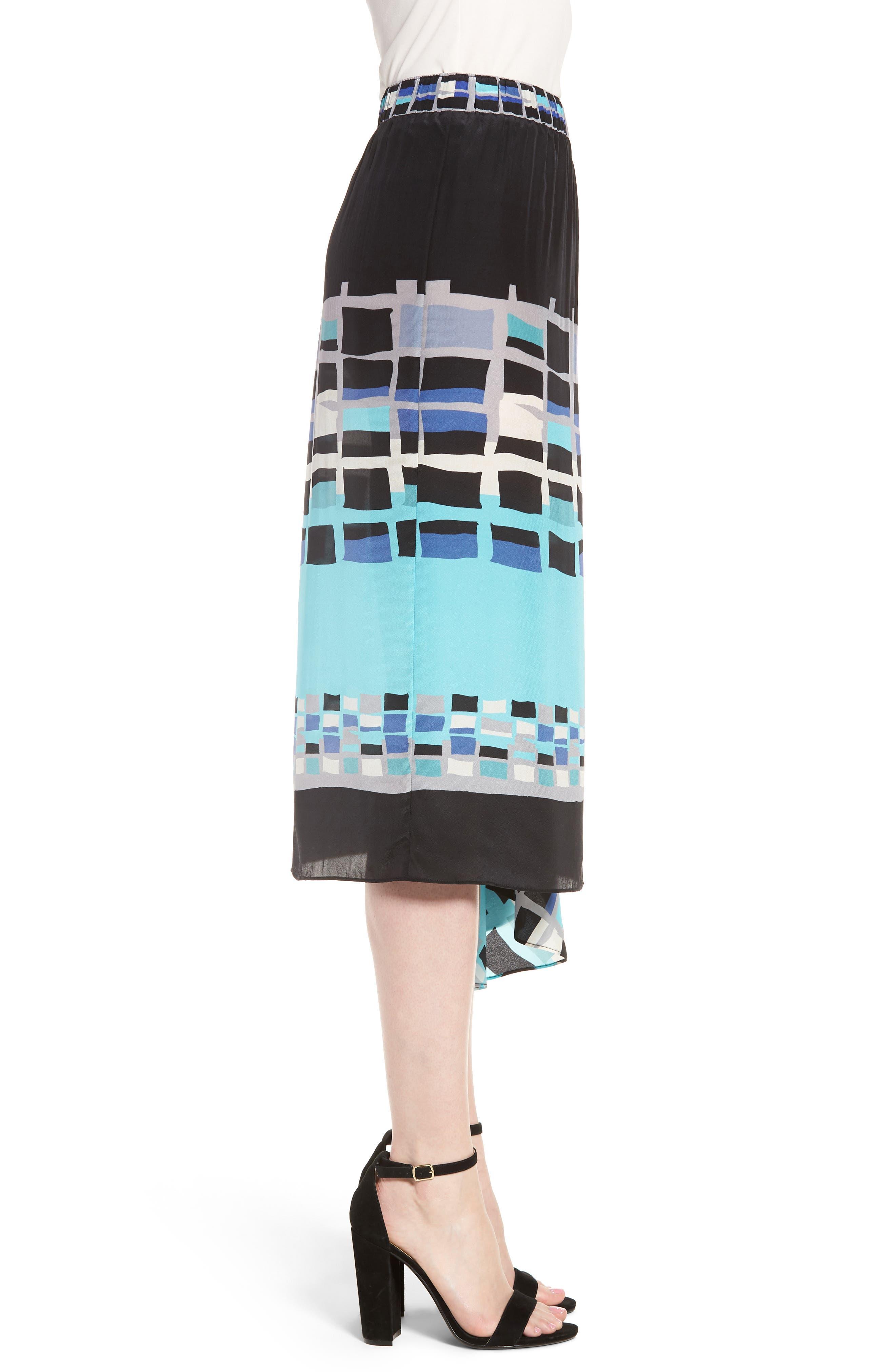 From Above Silk Blend Skirt,                             Alternate thumbnail 3, color,                             Multi