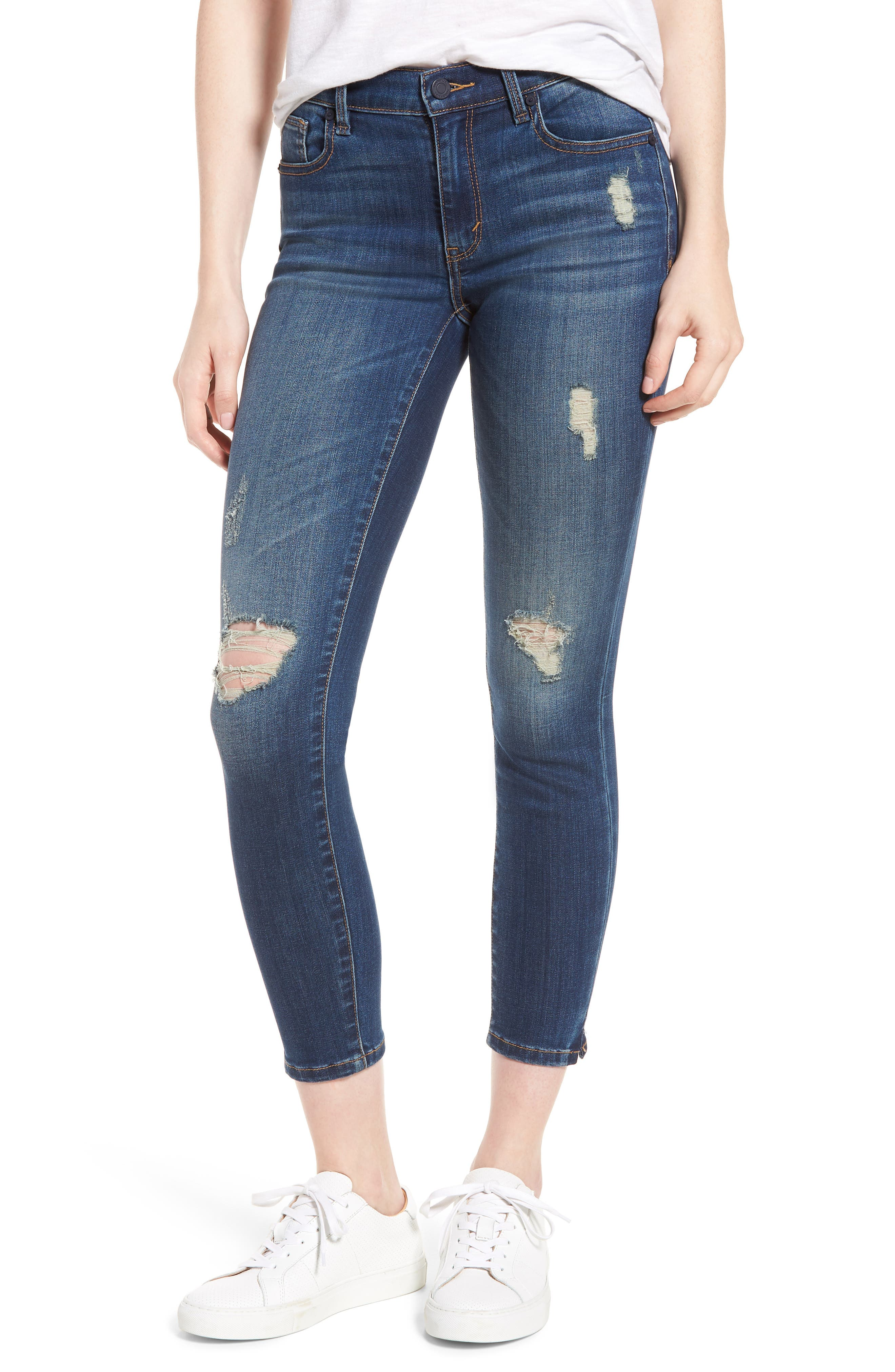 Marina Ankle Skinny Jeans,                             Main thumbnail 1, color,                             Basswood