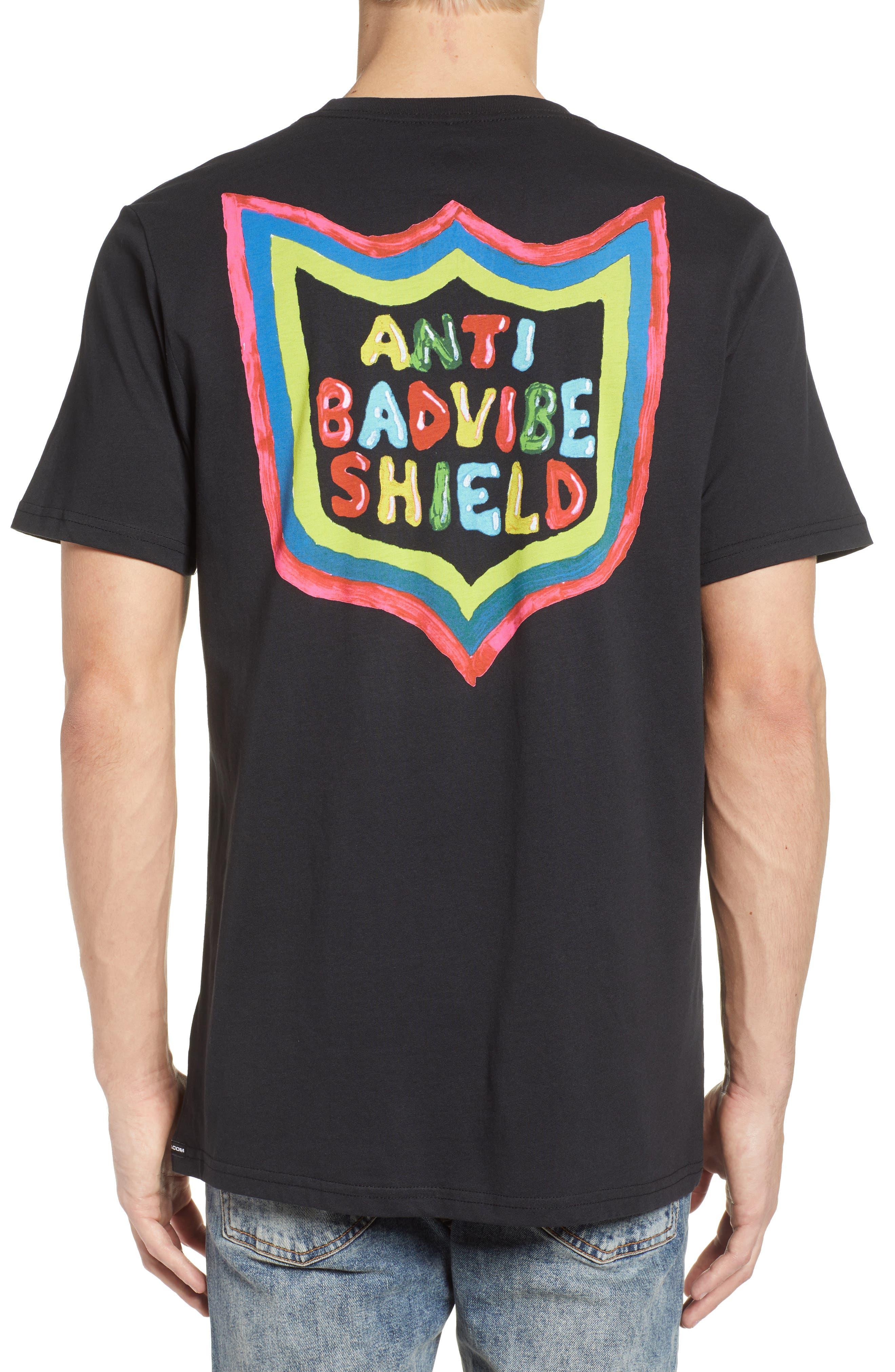 New Shield Graphic T-Shirt,                             Alternate thumbnail 2, color,                             Black