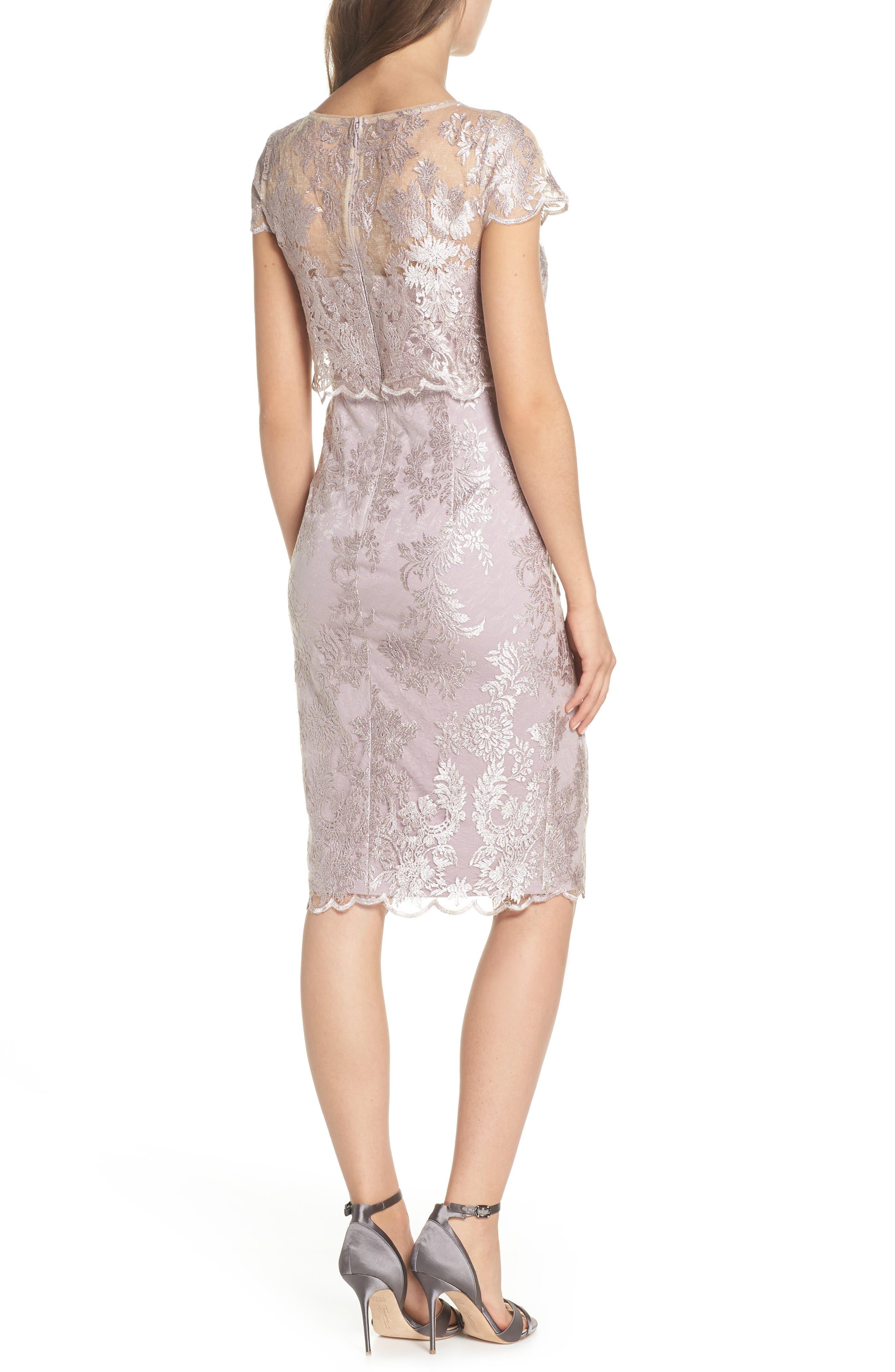 Scallop Edge Popover Sheath Dress,                             Alternate thumbnail 2, color,                             Lily Rose