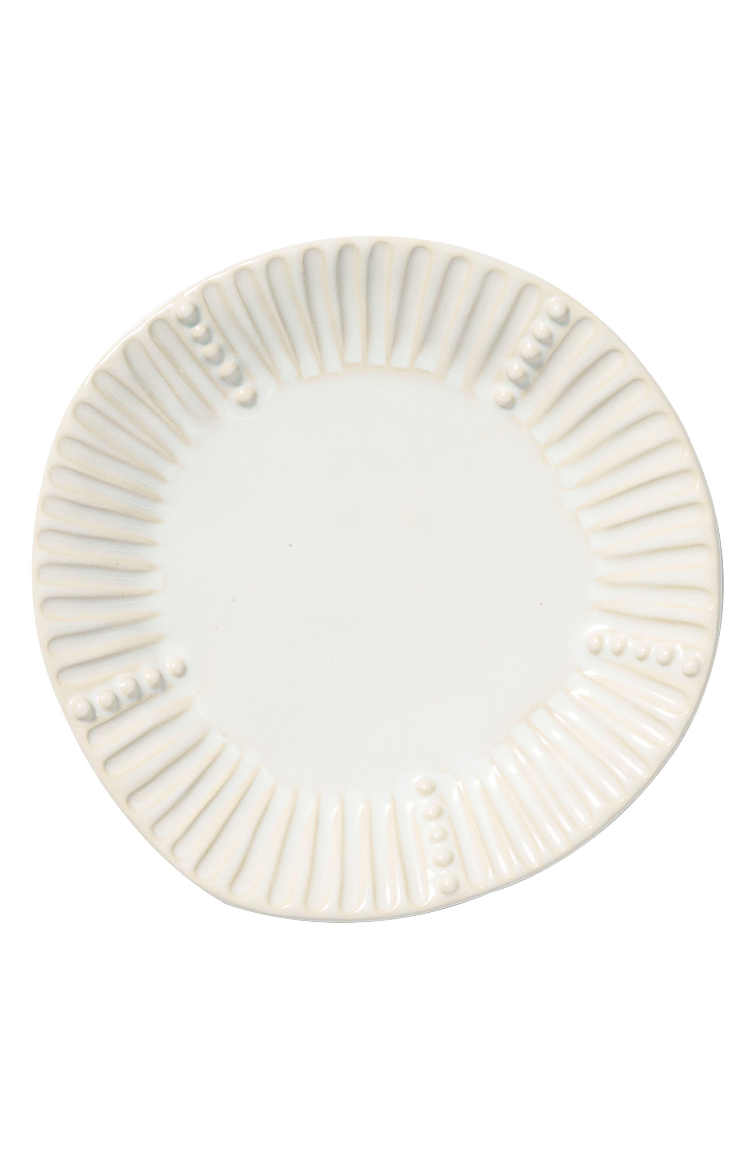 Incanto Stone Stripe Salad Plate,                         Main,                         color, Linen