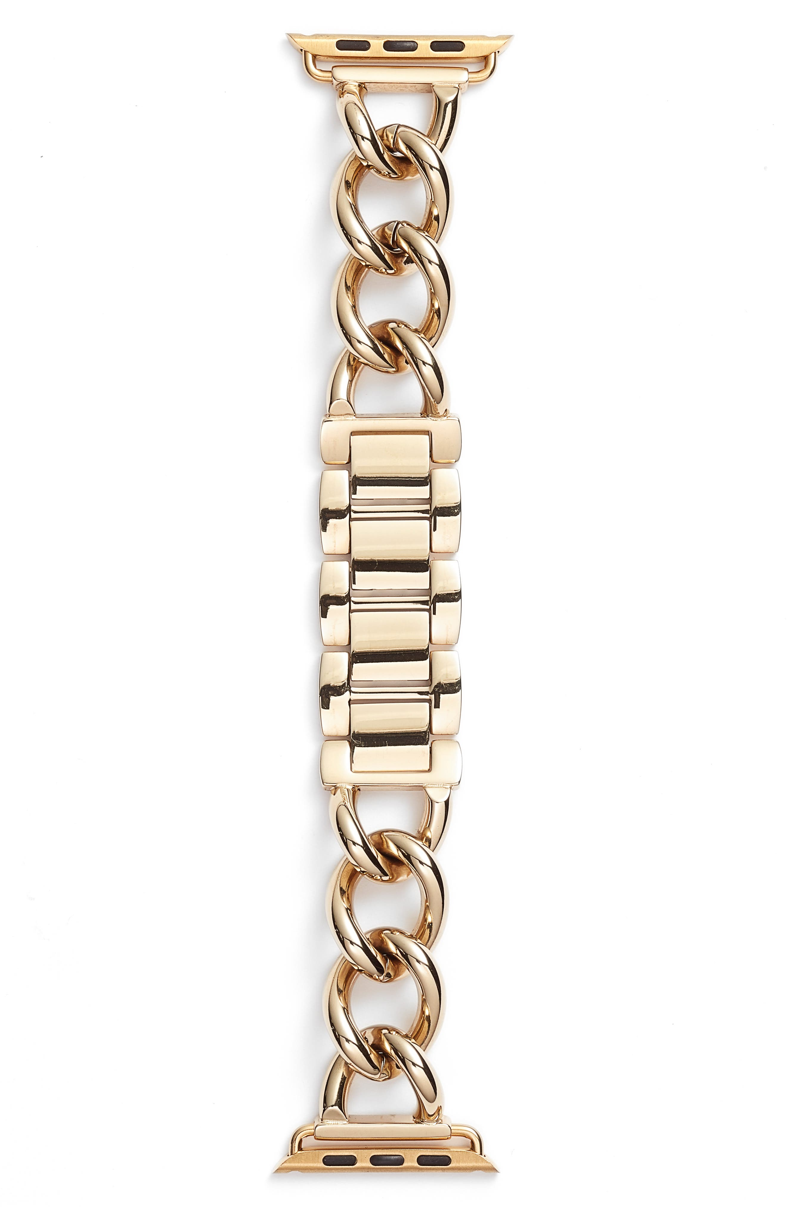 Bezels & Bytes Chunky Curb Chain Apple Watch Band, 42mm,                         Main,                         color, Gold