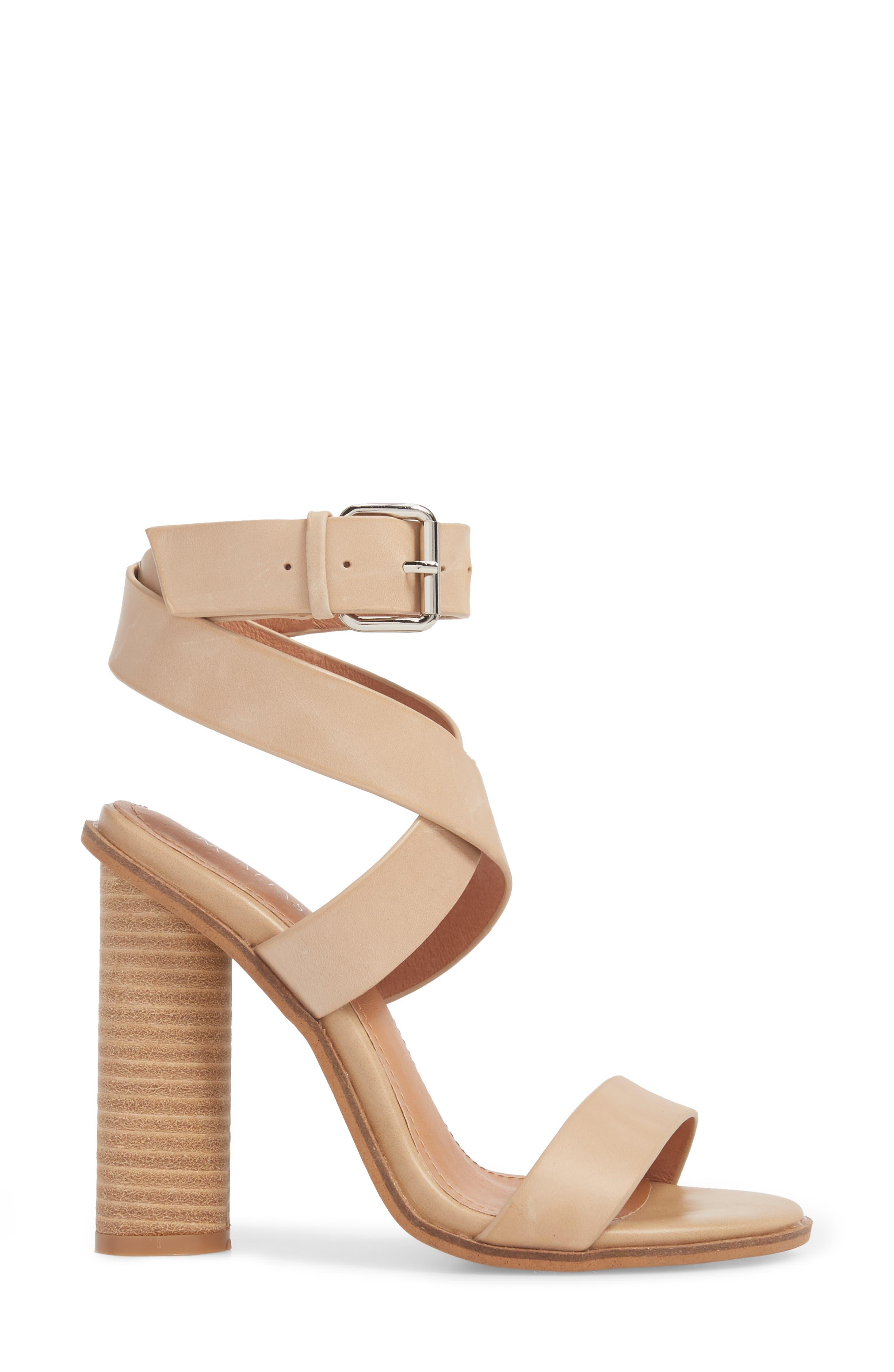 Abaala Cross Strap Sandal,                             Alternate thumbnail 3, color,                             Natural Leather