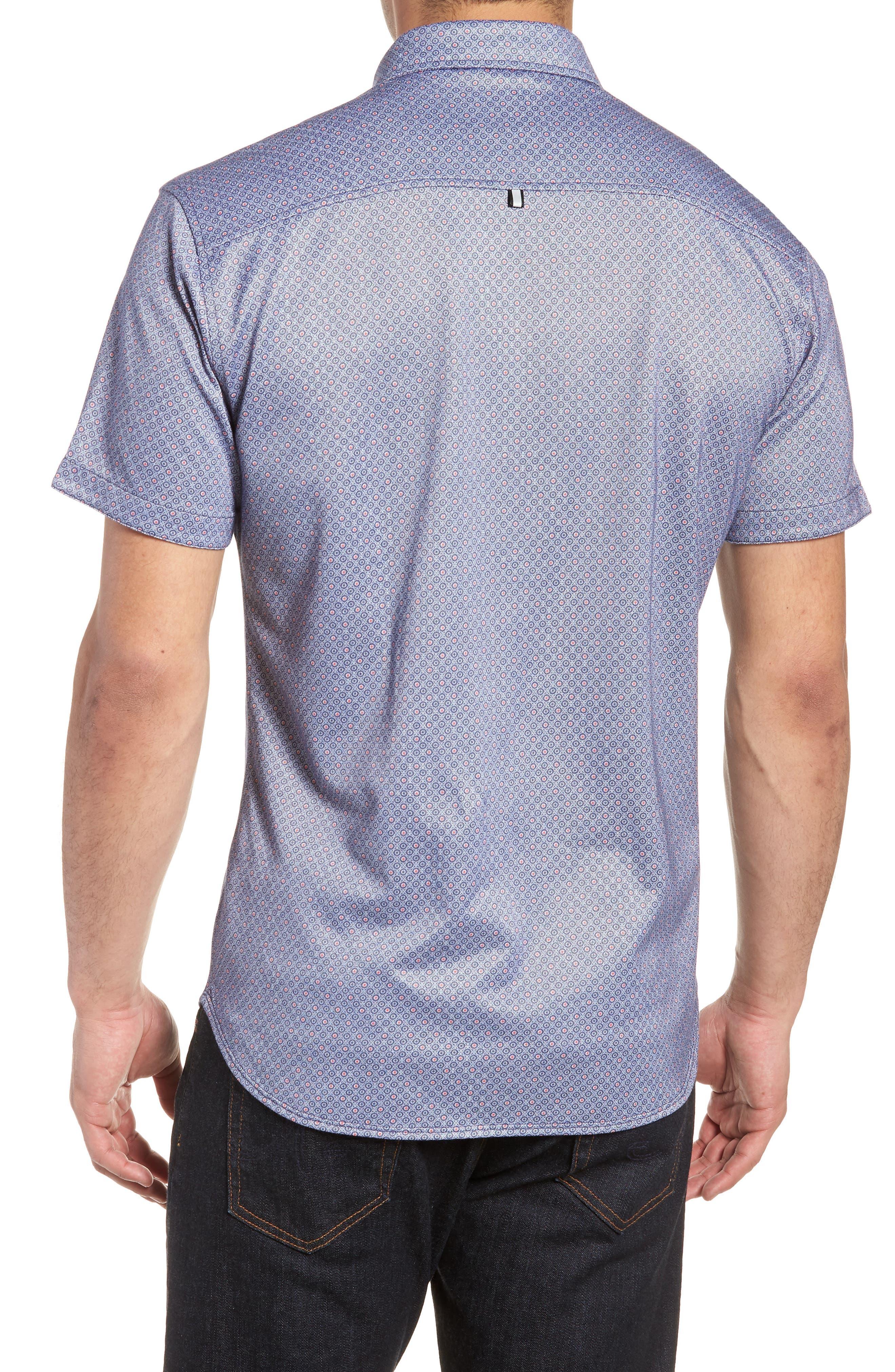 Alternate Image 2  - Stone Rose Contemporary Fit Geo Tech Sport Shirt