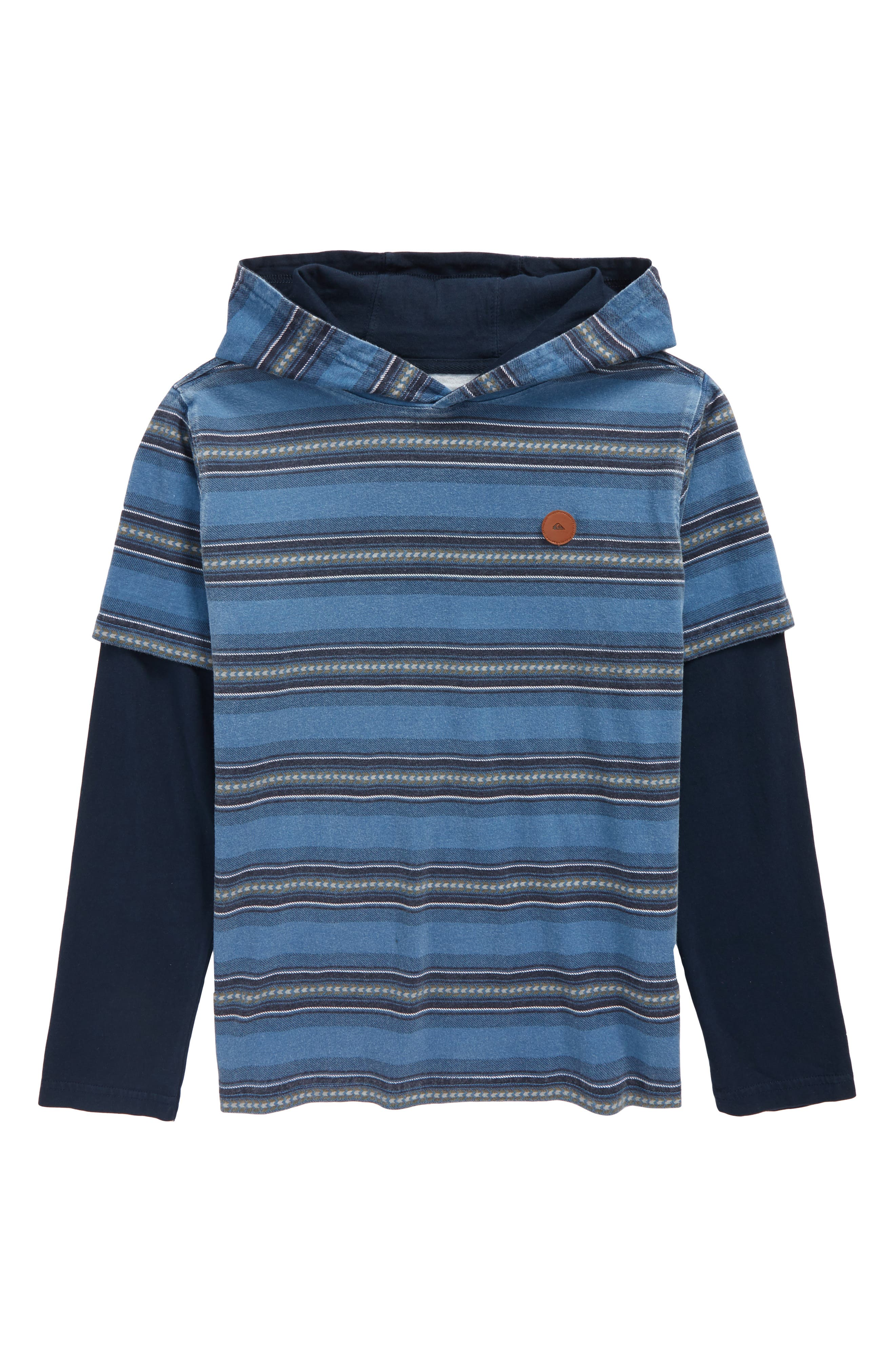 Main Image - Quiksilver Haleiwa Layered Hooded Pullover (Big Boys)