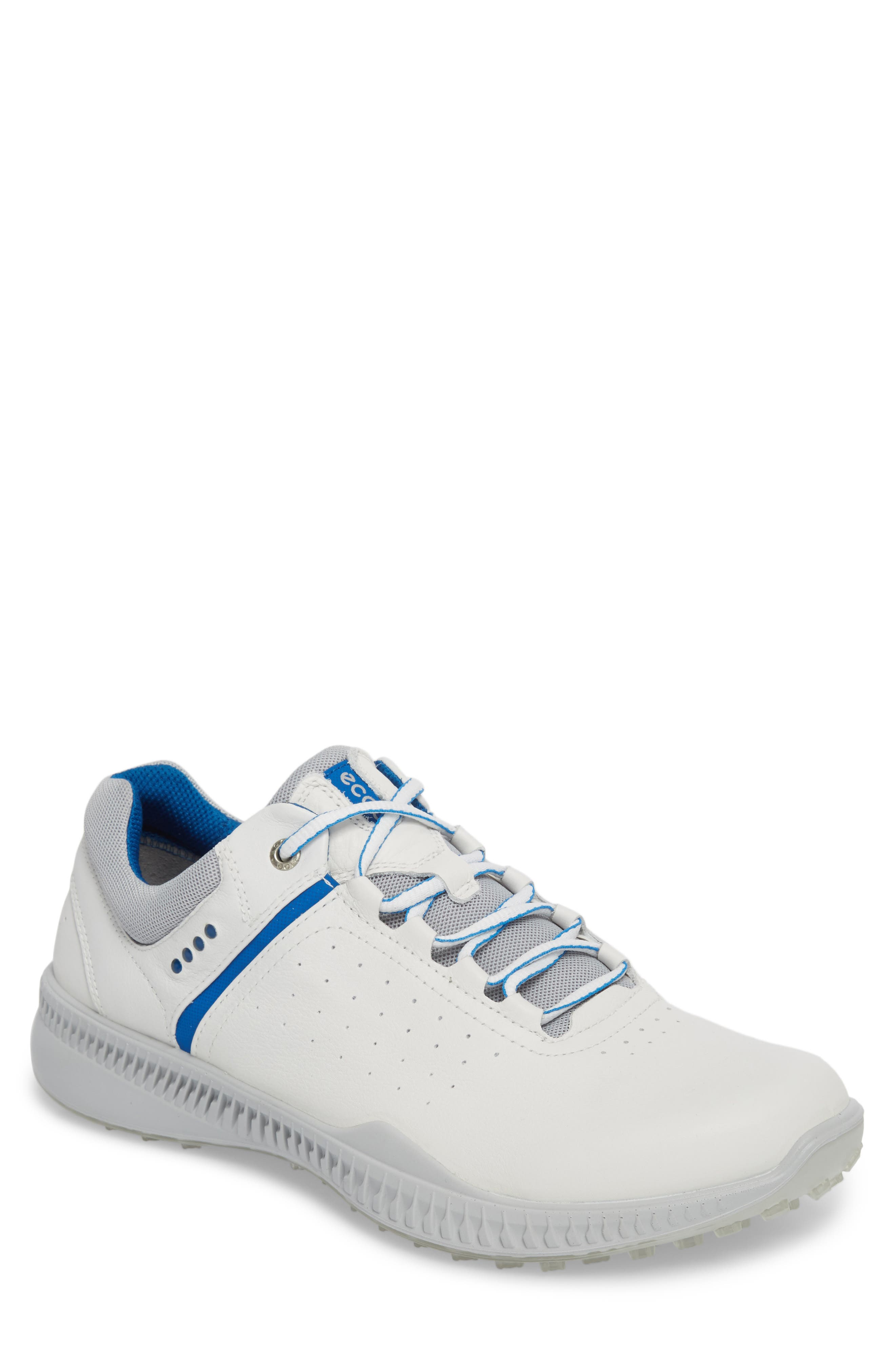 S-Drive Water Repellent Golf Shoe,                         Main,                         color, White Leather