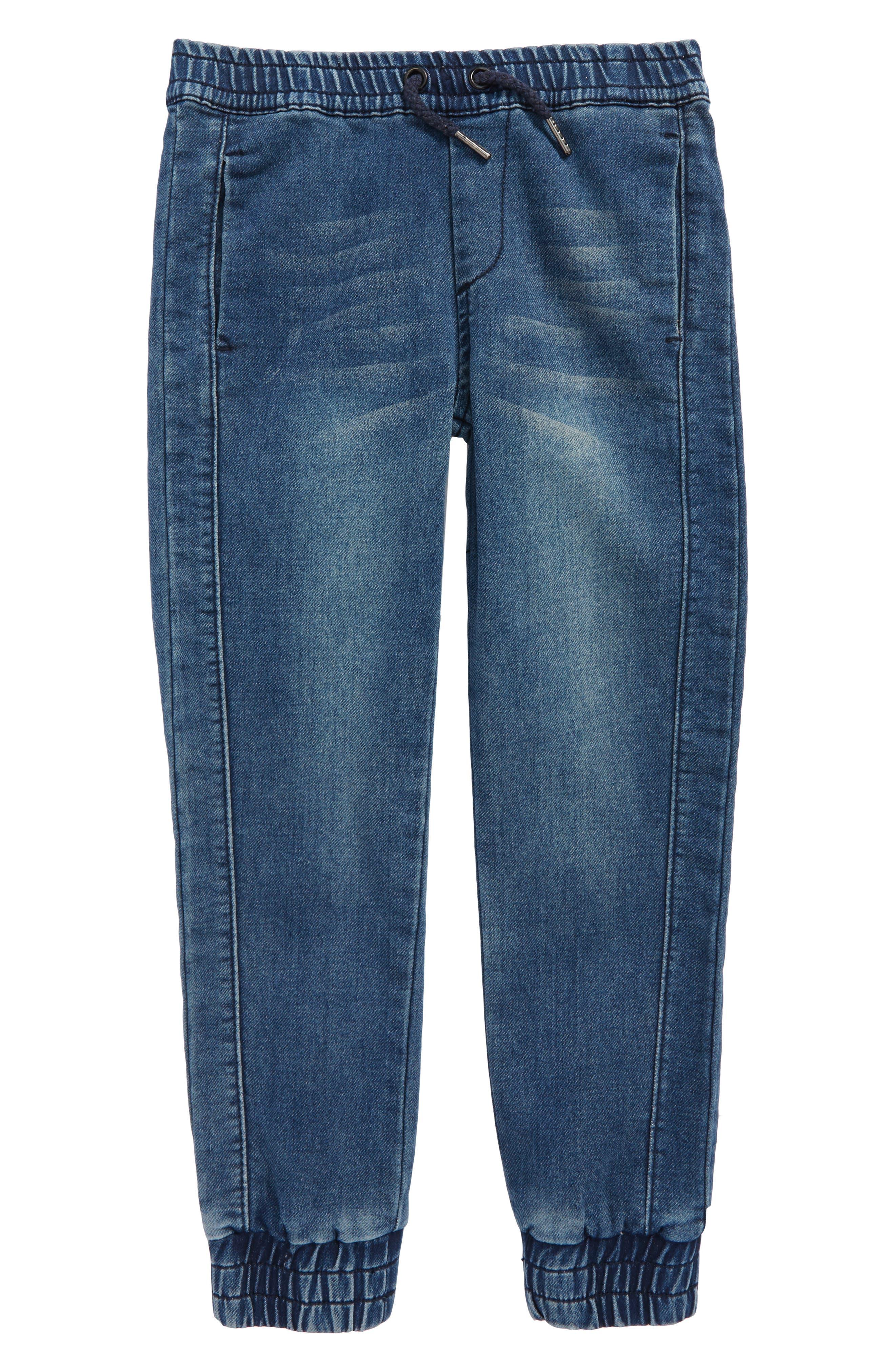 Slim Fit Denim Jogger Pants,                         Main,                         color, Indigo