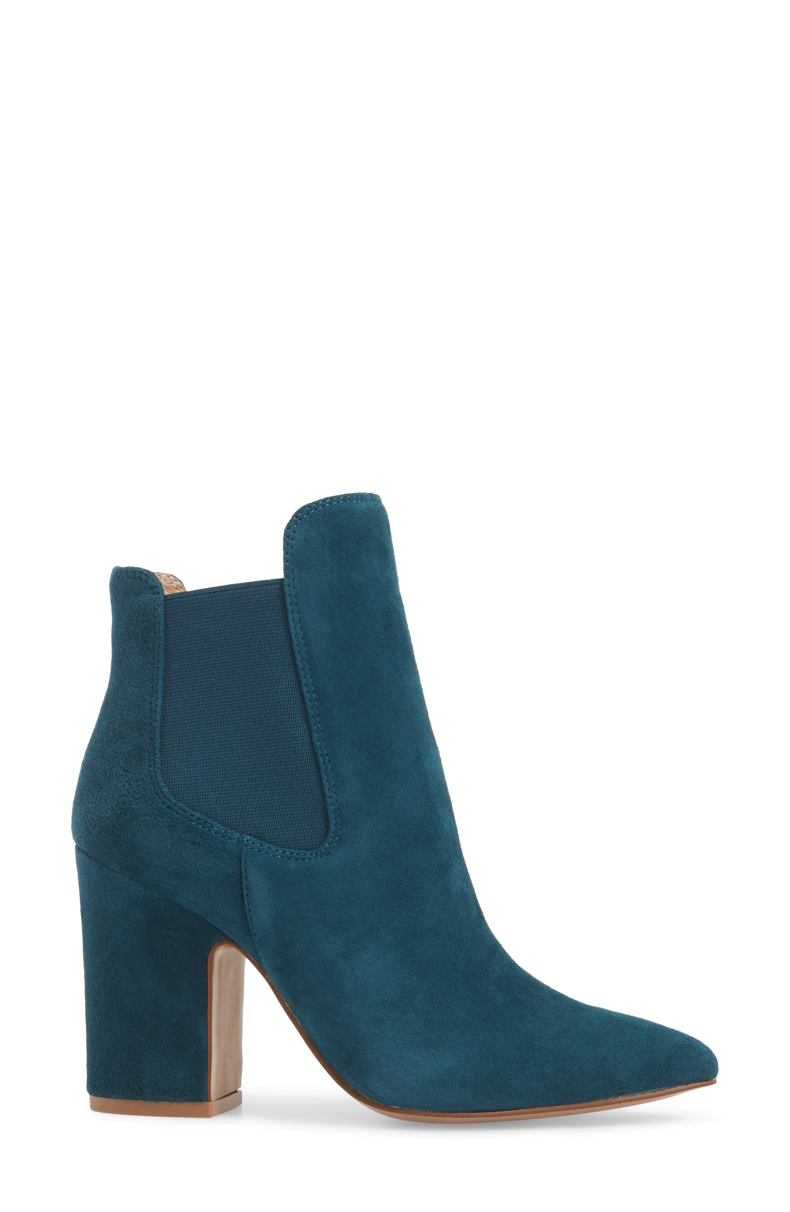 Starlight Bootie,                             Alternate thumbnail 3, color,                             Teal Suede