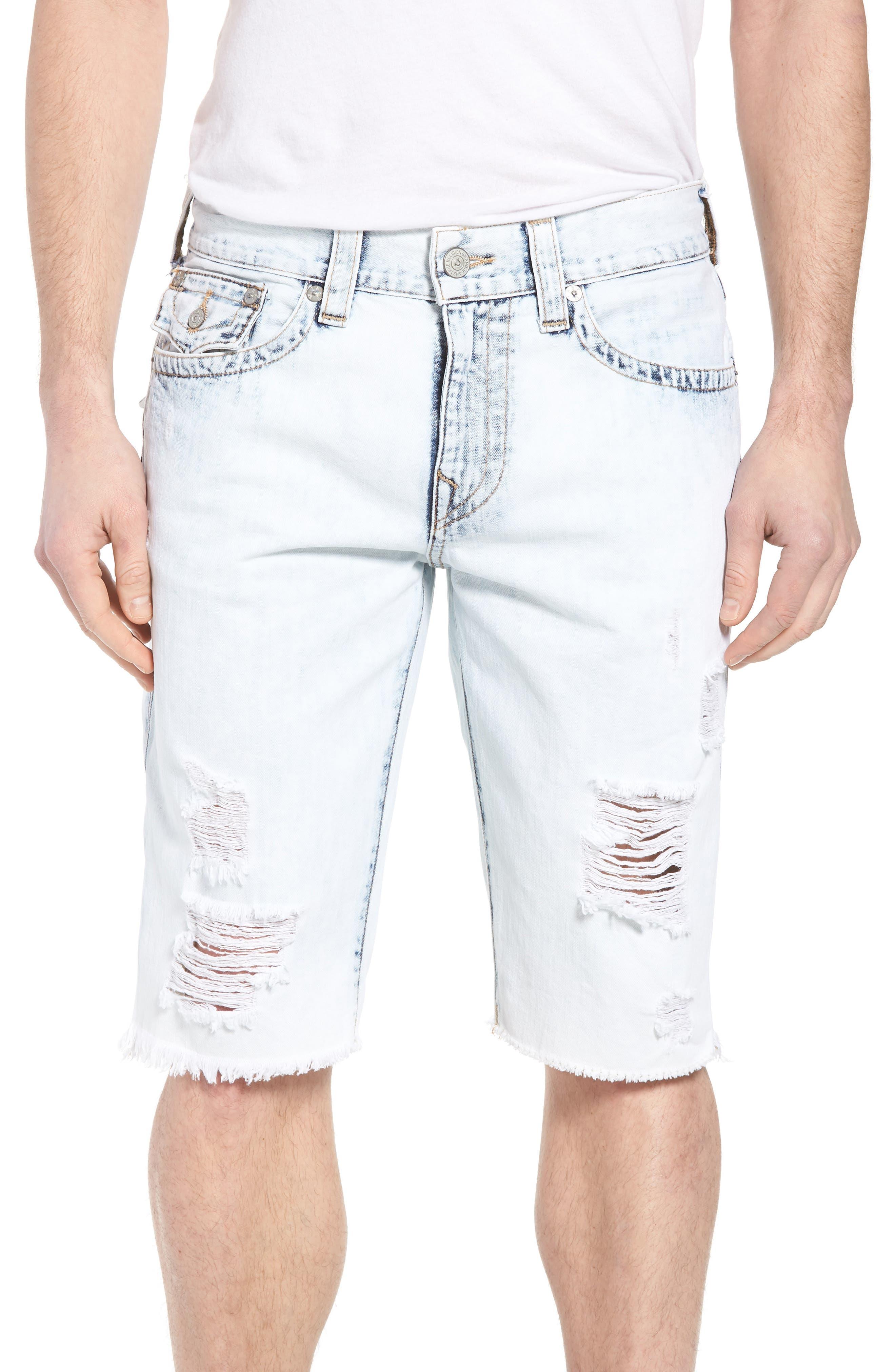 True Religion Brand Jeans Geno Denim Shorts (Worn Cloudfall)