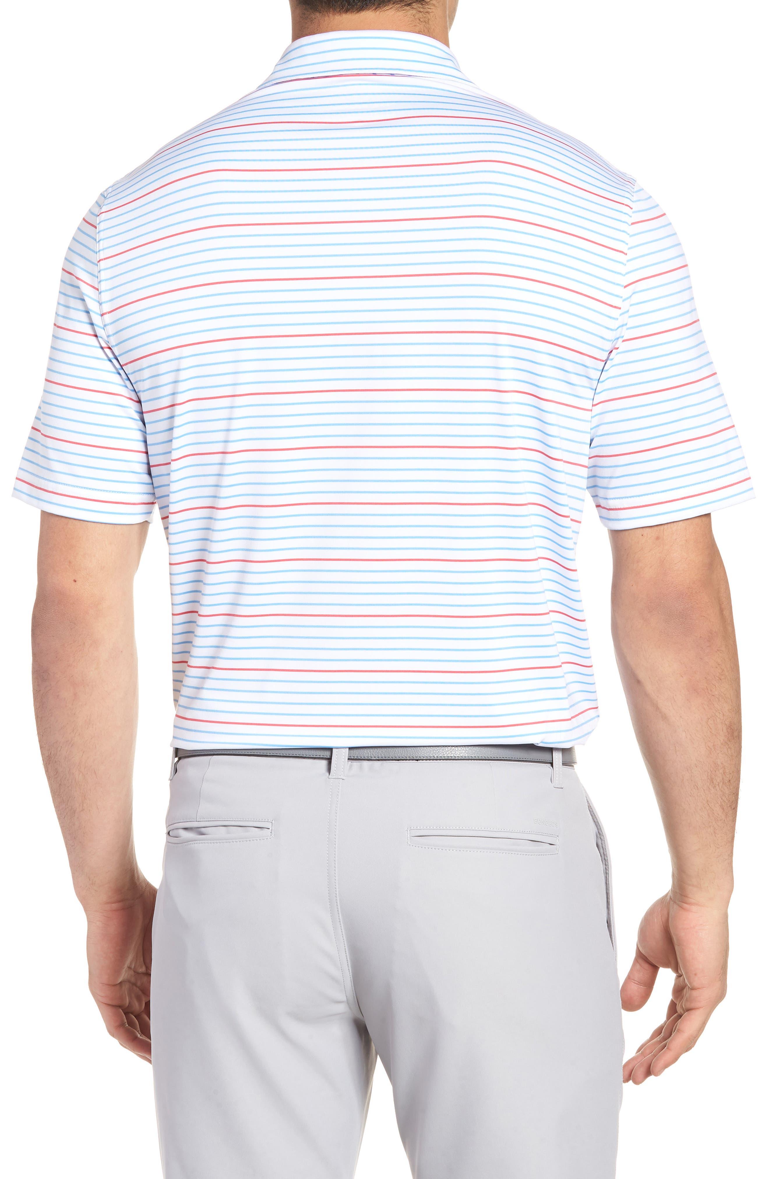Swindell Stretch Stripe Polo,                             Alternate thumbnail 2, color,                             White Cap
