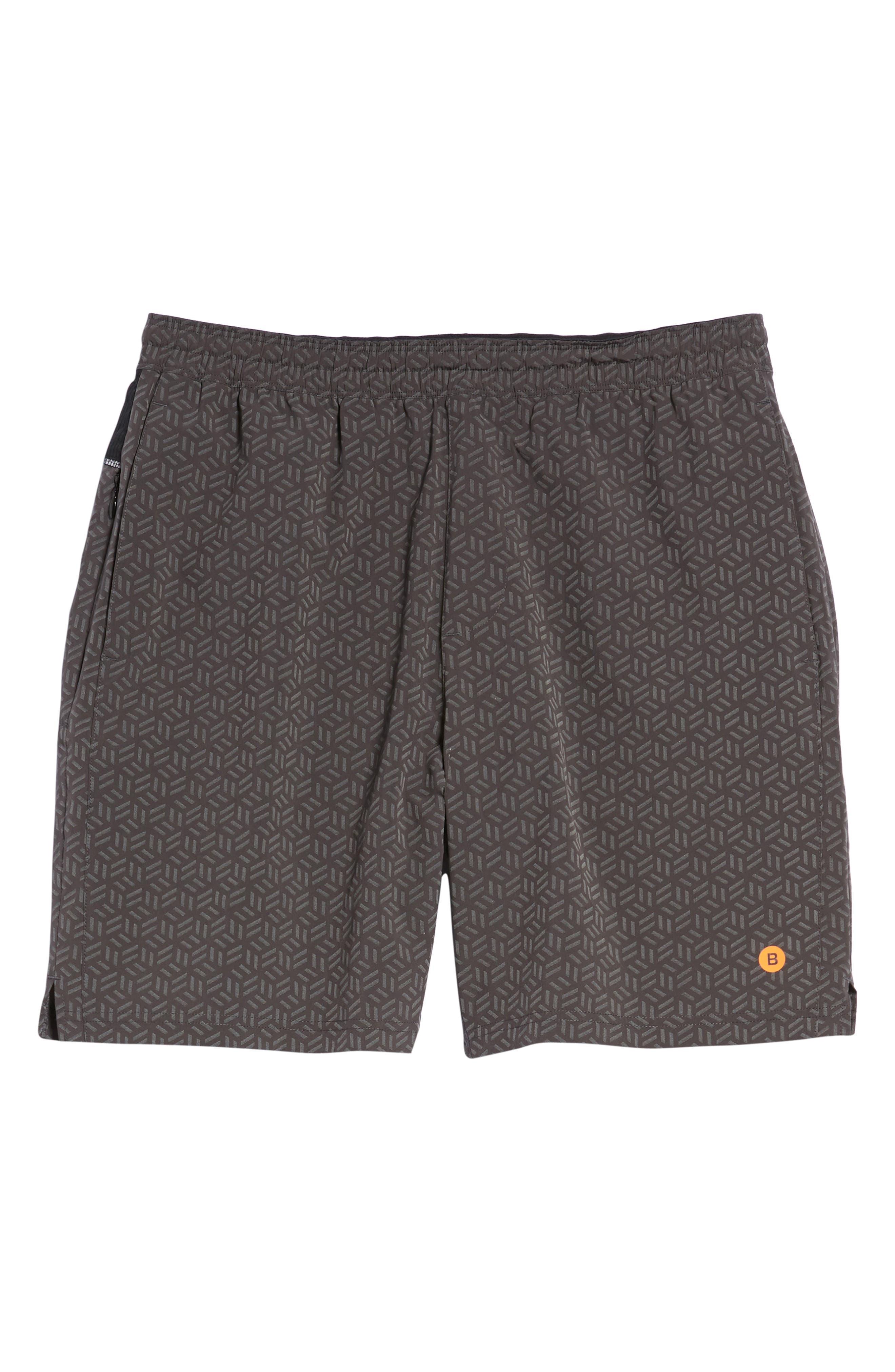 Stretch Shorts,                             Alternate thumbnail 6, color,                             Reflective Cube Geo