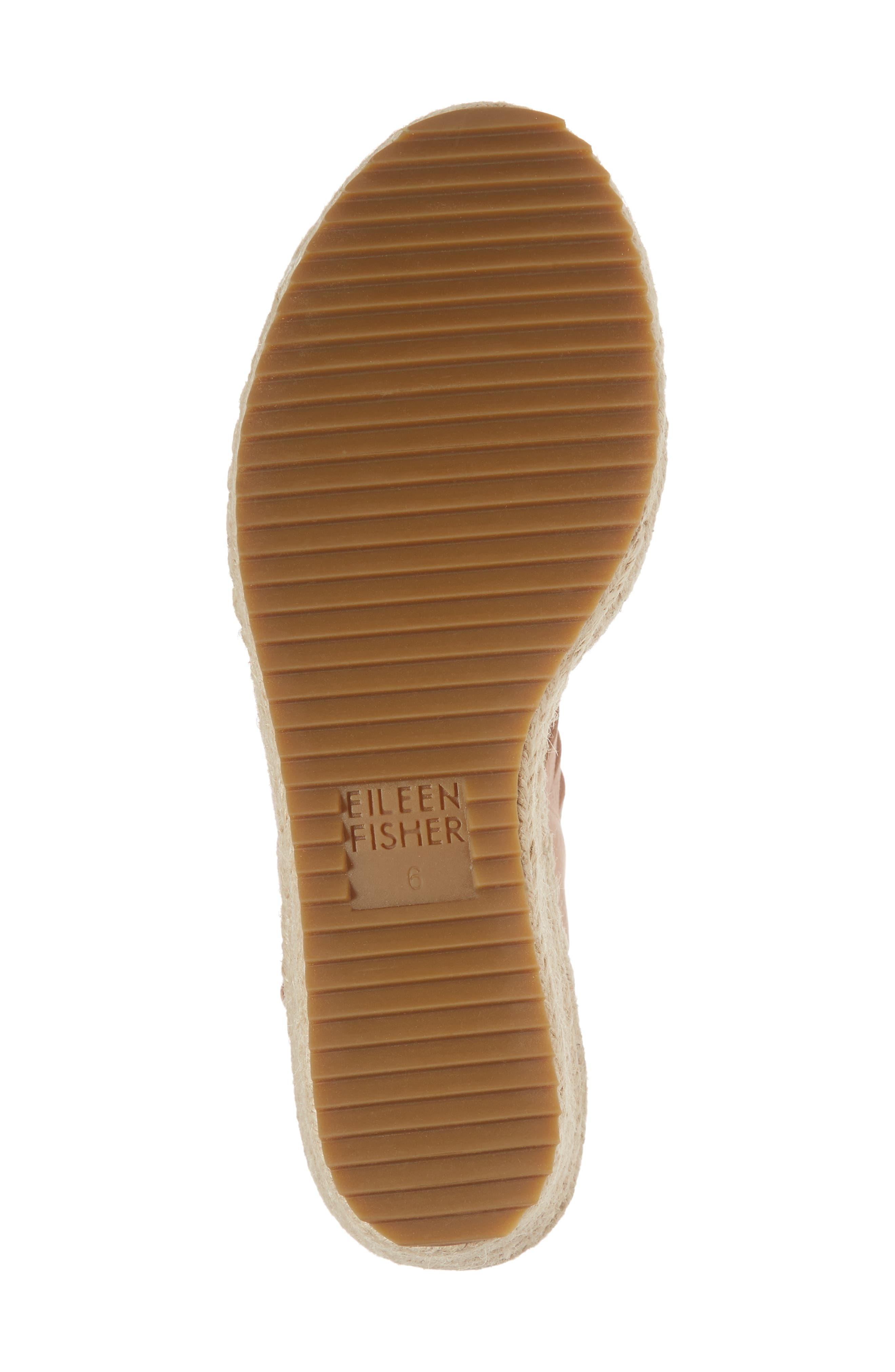 Largo Espadrille Wedge Sandal,                             Alternate thumbnail 6, color,                             Toffee Cream Nubuck