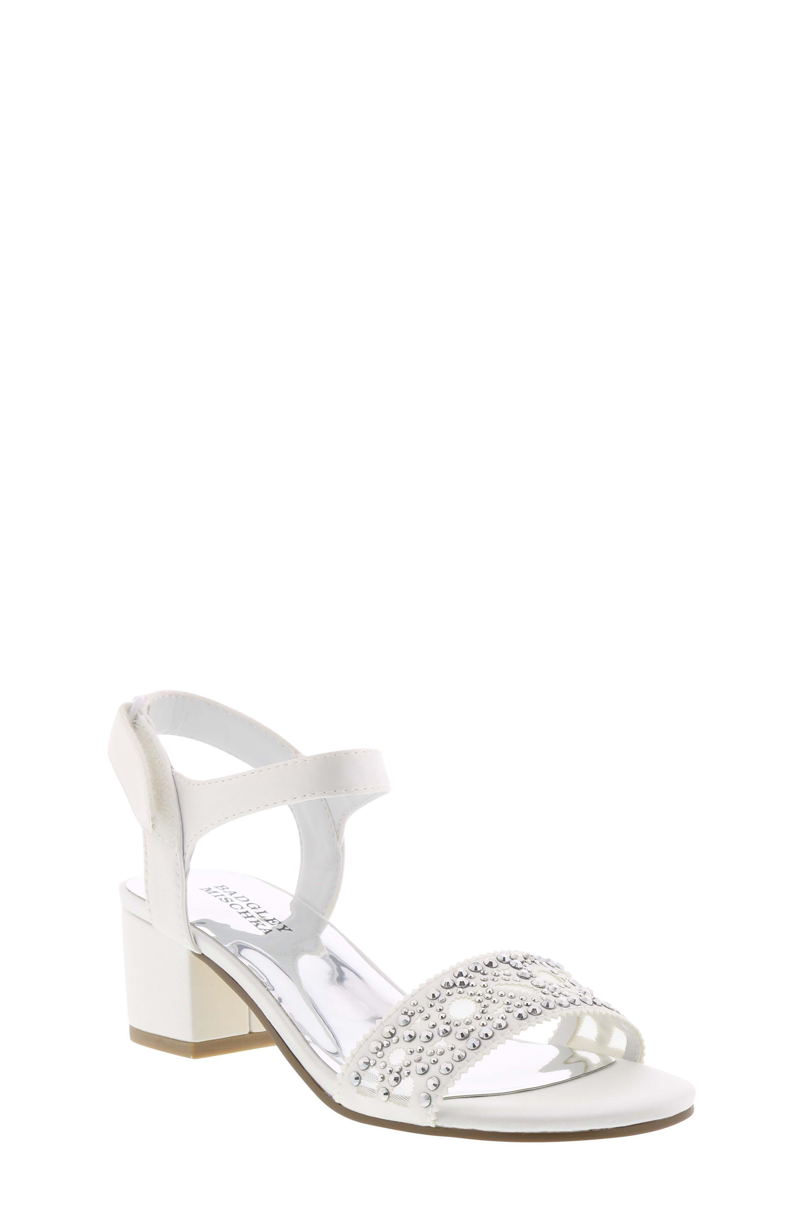 Ascot Gems Sandal,                             Main thumbnail 1, color,                             White