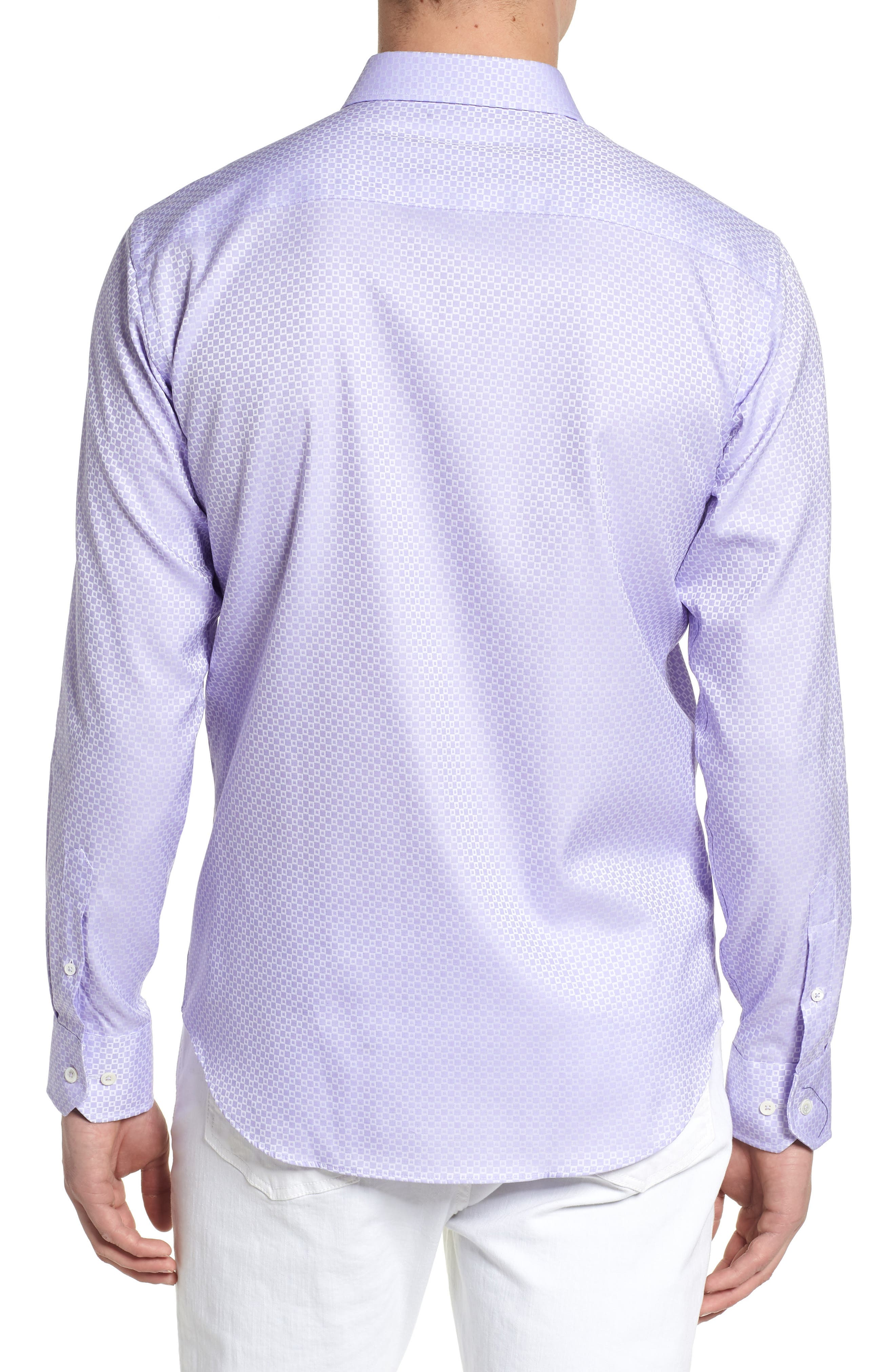 Woven Sport Shirt,                             Alternate thumbnail 2, color,                             Lavender