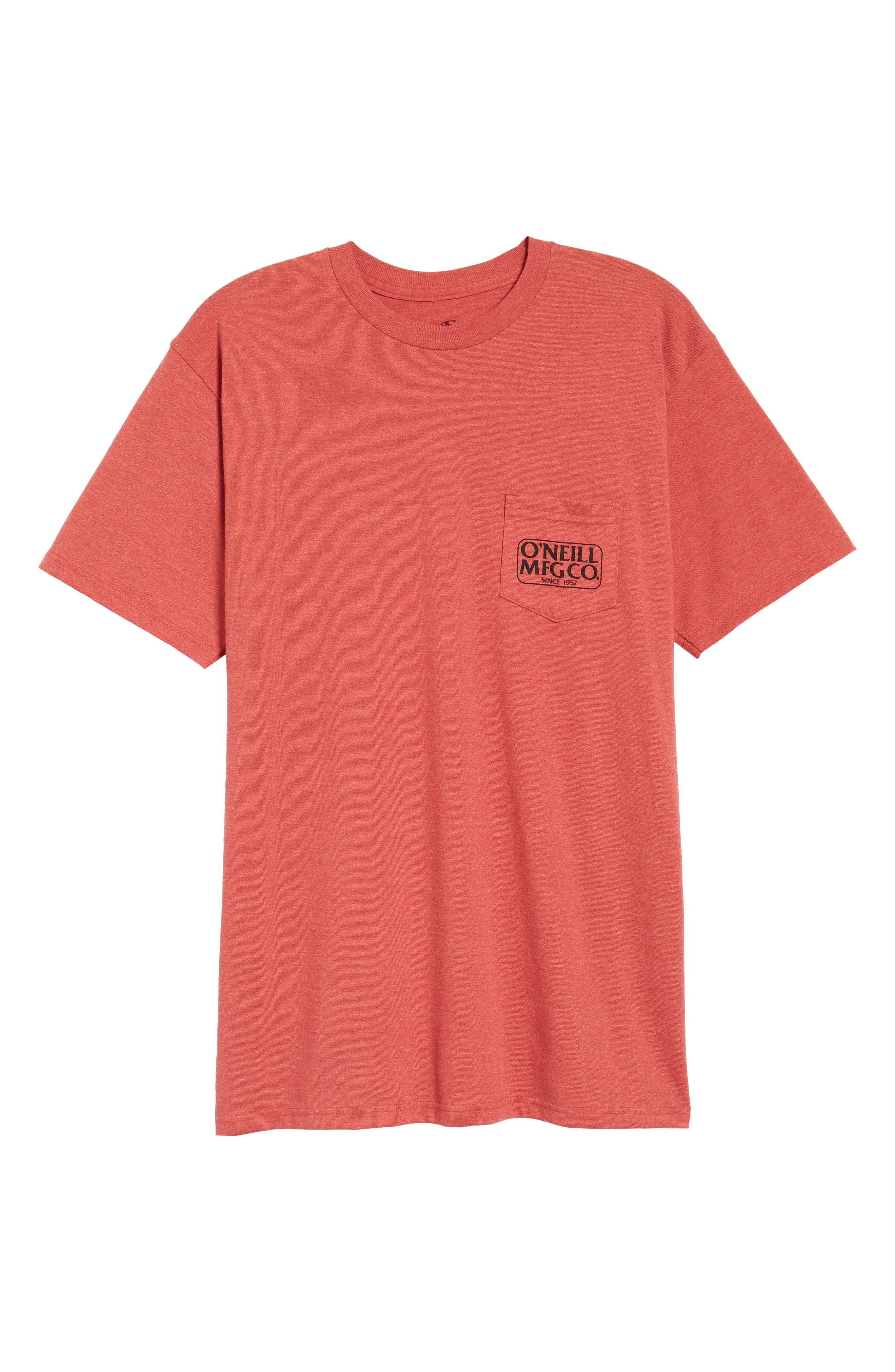 MFG Graphic T-Shirt,                             Alternate thumbnail 6, color,                             Red Heather