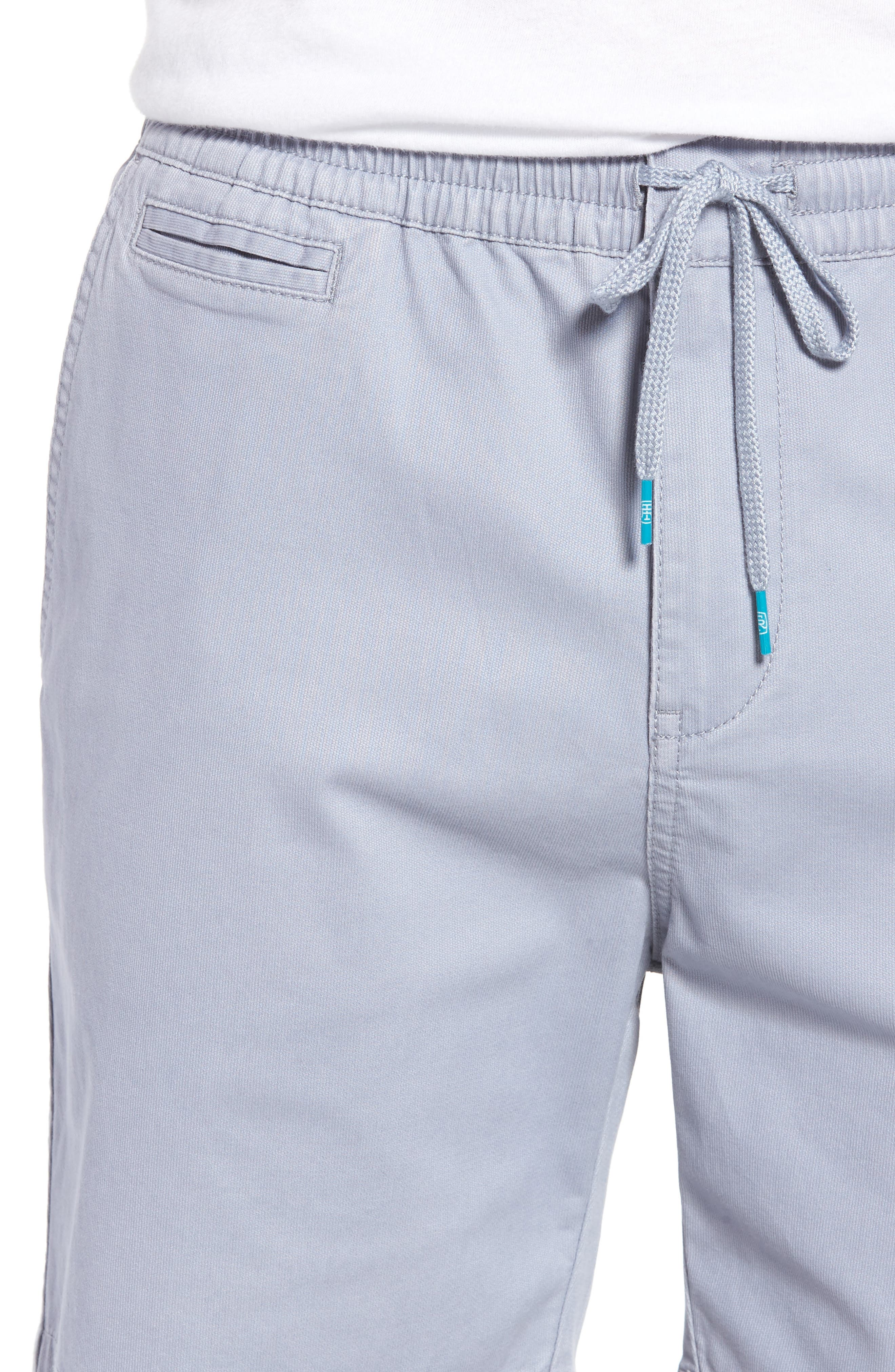 Drawstring Bedford Corduroy Shorts,                             Alternate thumbnail 4, color,                             Silver Blue