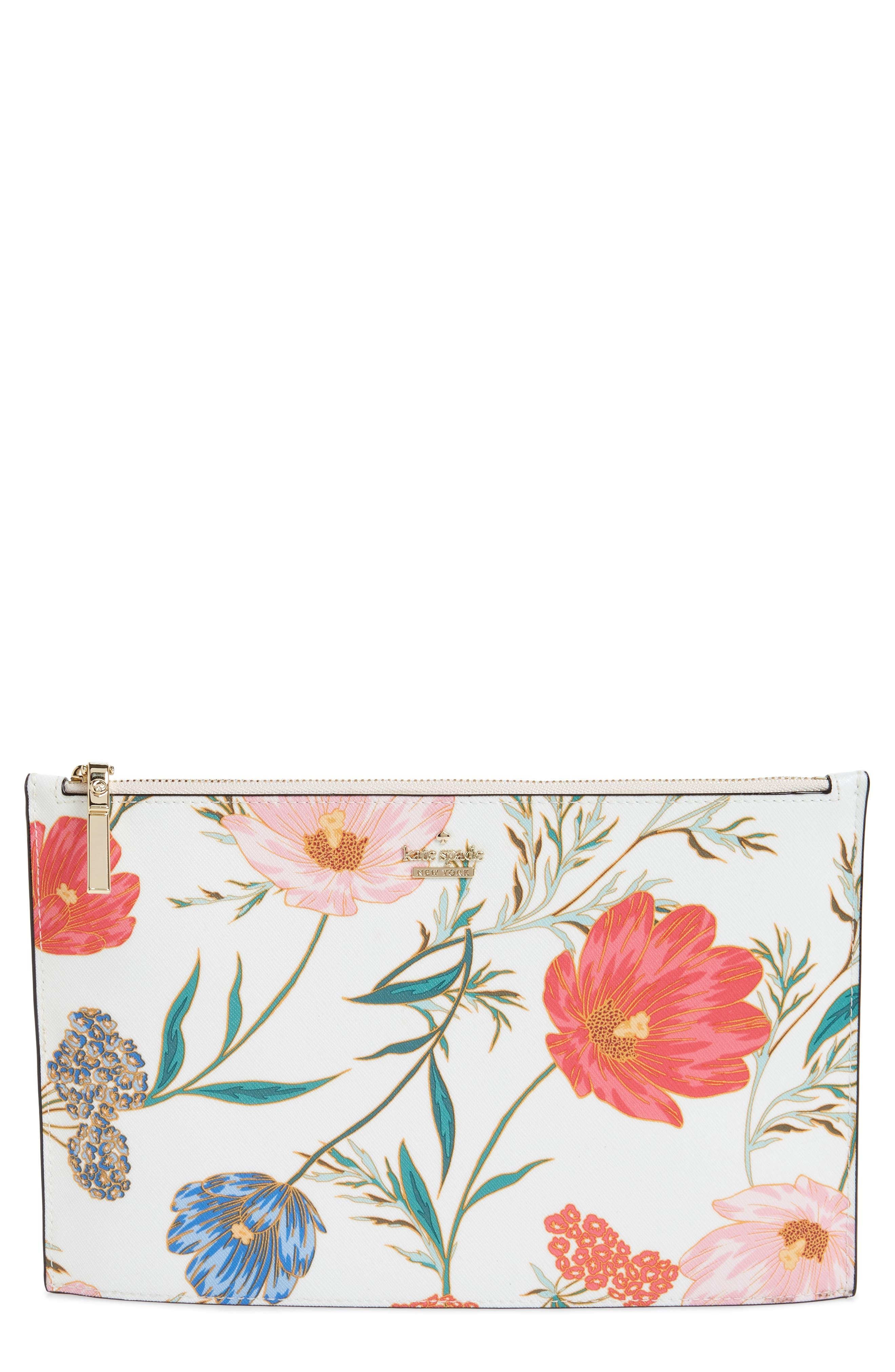 cameron street – blossom lilia leather clutch,                         Main,                         color, Cream