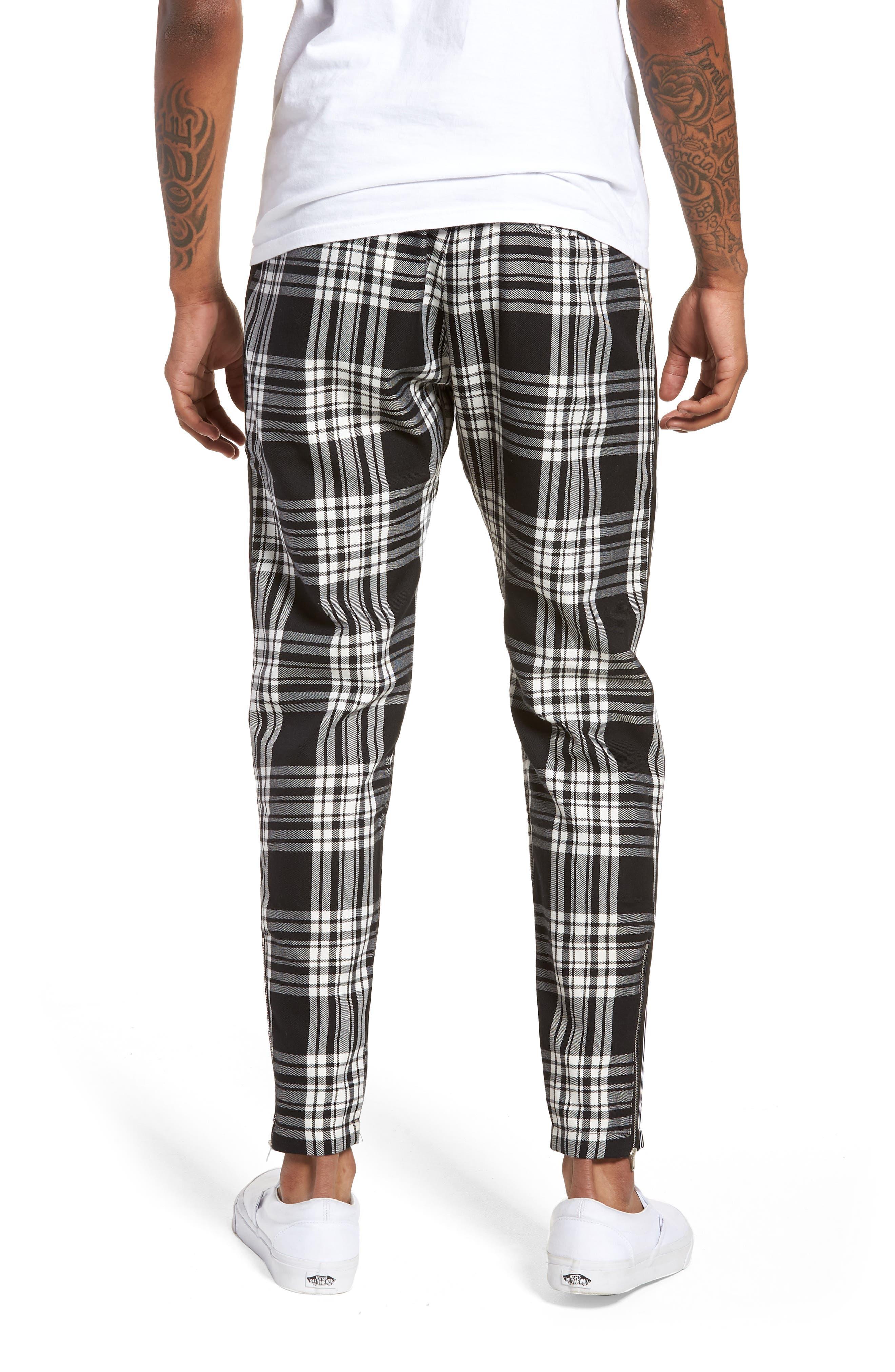 Plaid Jogger Pants,                             Alternate thumbnail 2, color,                             Black