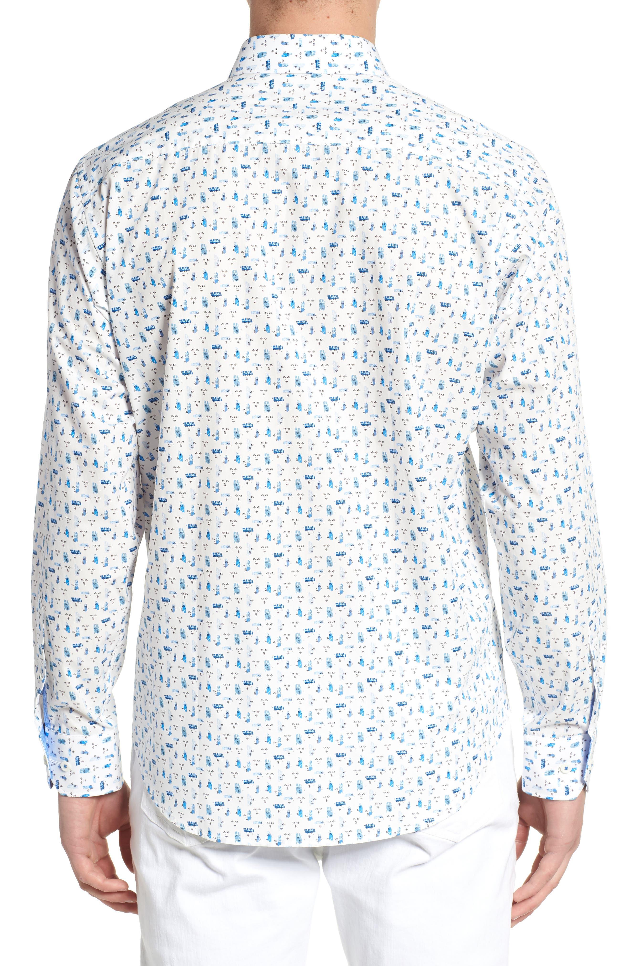 Classic Fit Woven Sport Shirt,                             Alternate thumbnail 2, color,                             Chalk