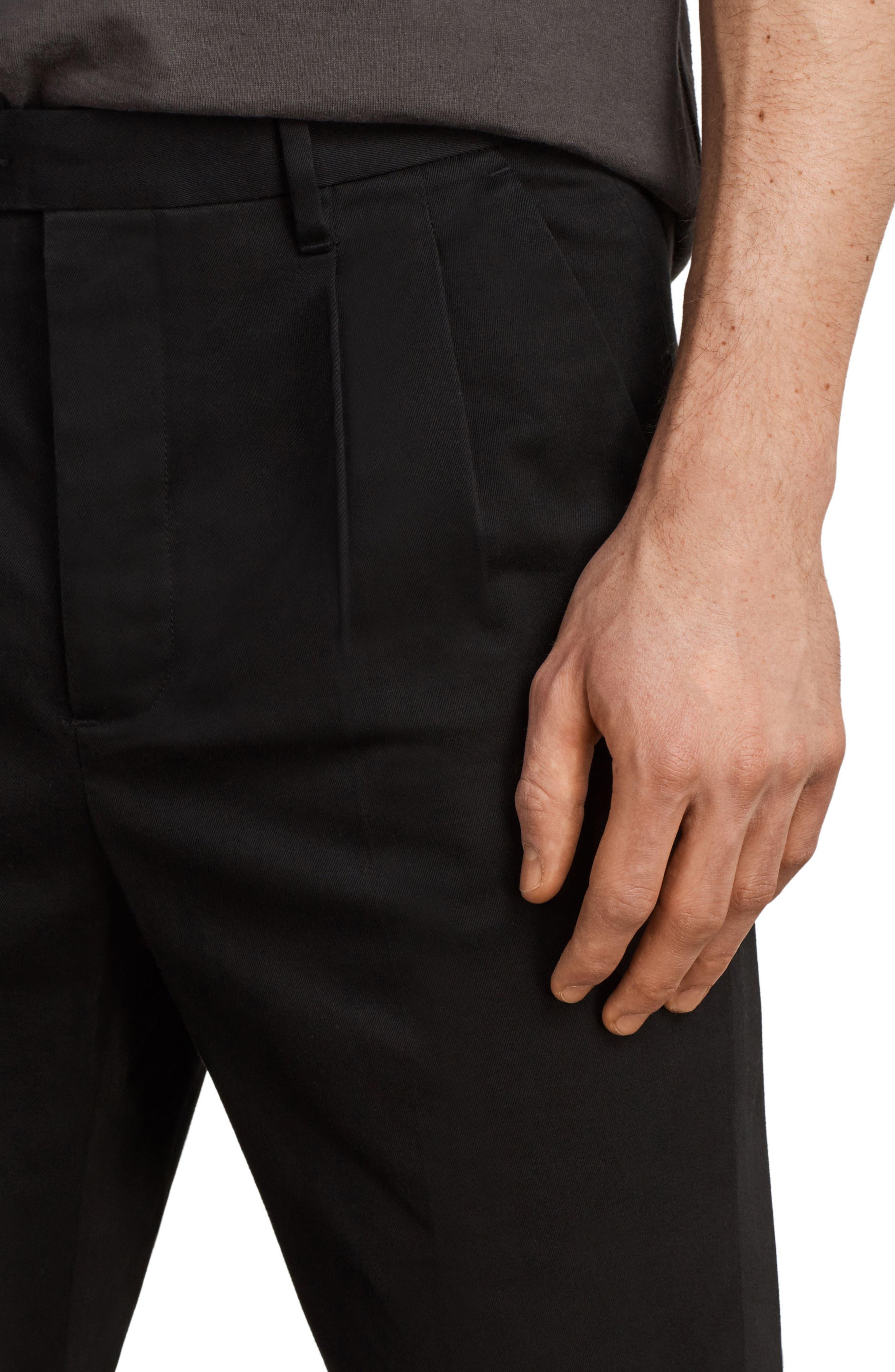 Salco Slim Fit Chino Pants,                             Alternate thumbnail 4, color,                             Black