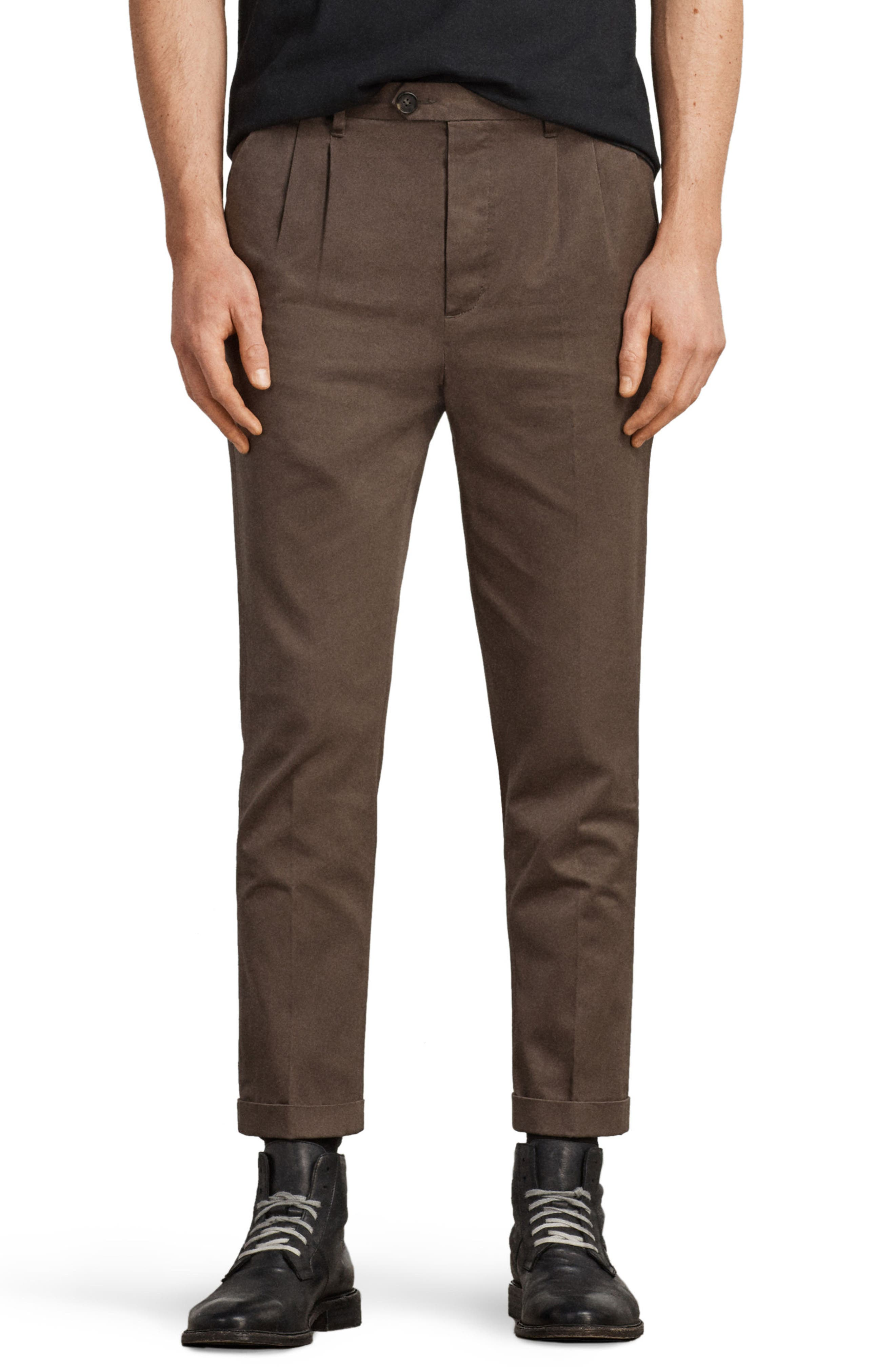 Salco Slim Fit Chino Pants,                             Main thumbnail 1, color,                             Khaki Green