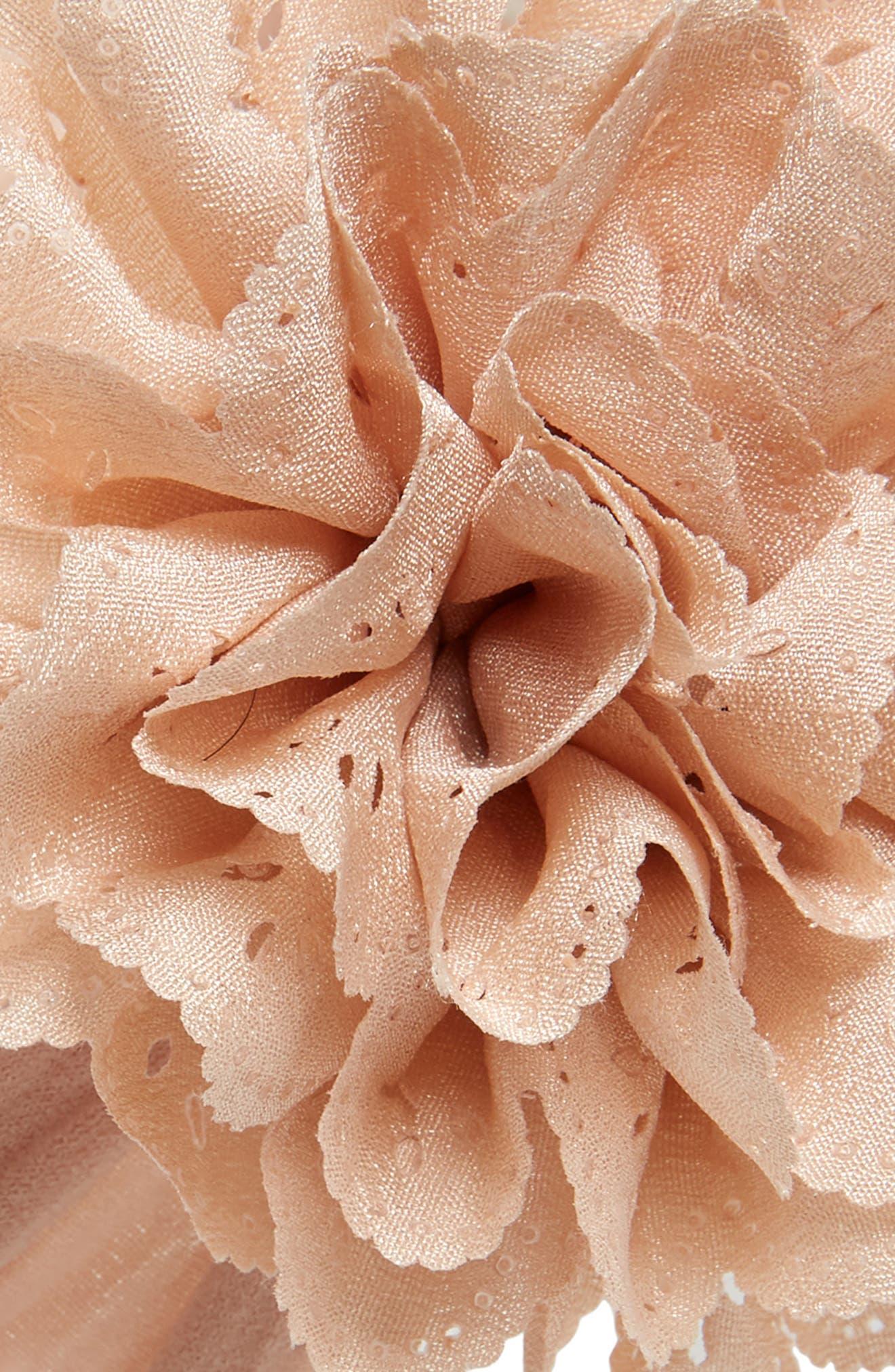 Eyelet Flower Head Wrap,                             Alternate thumbnail 2, color,                             Blush