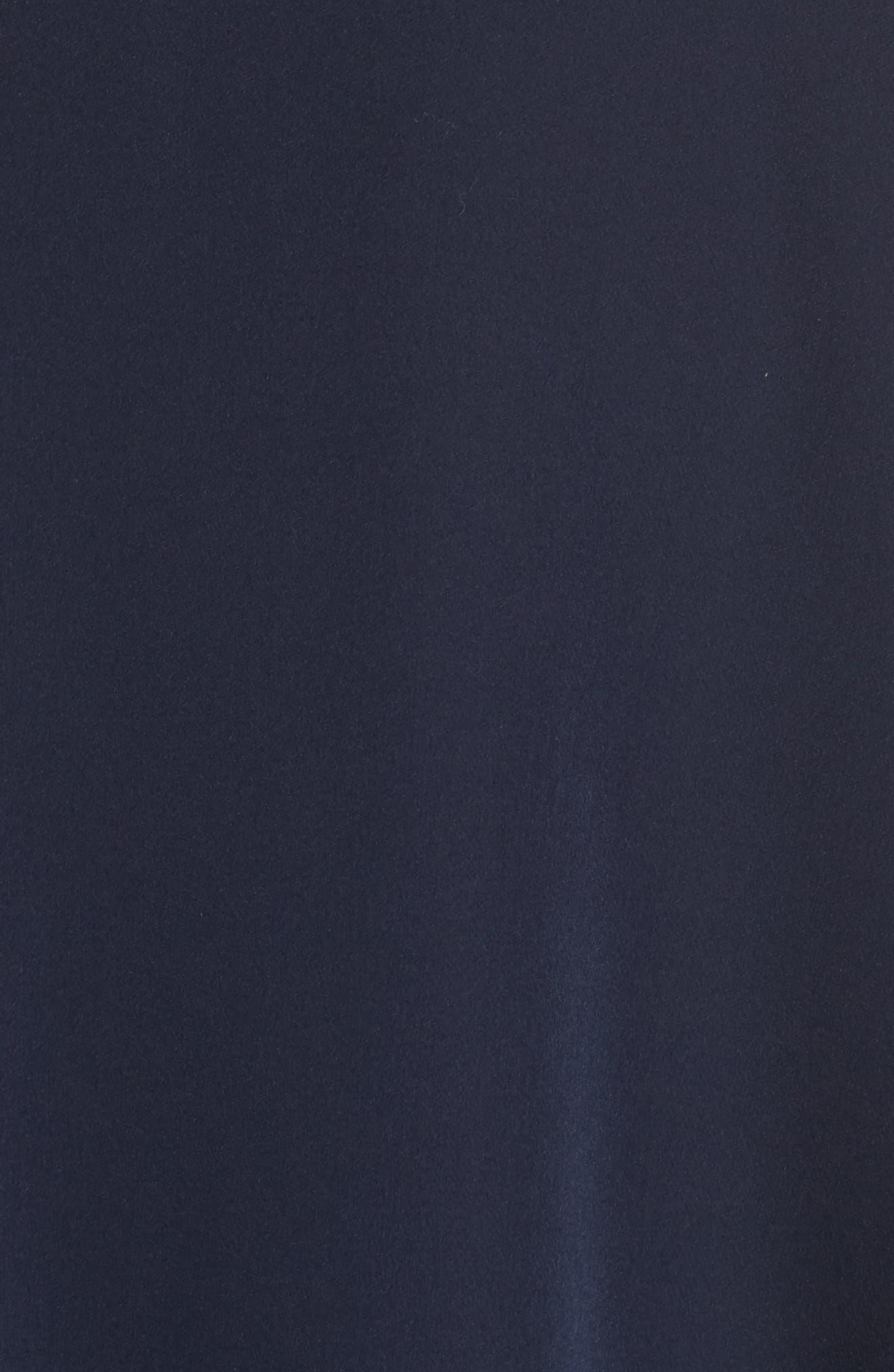 Yvonne Dream Crepe One-Shoulder Dress,                             Alternate thumbnail 7, color,                             Navy