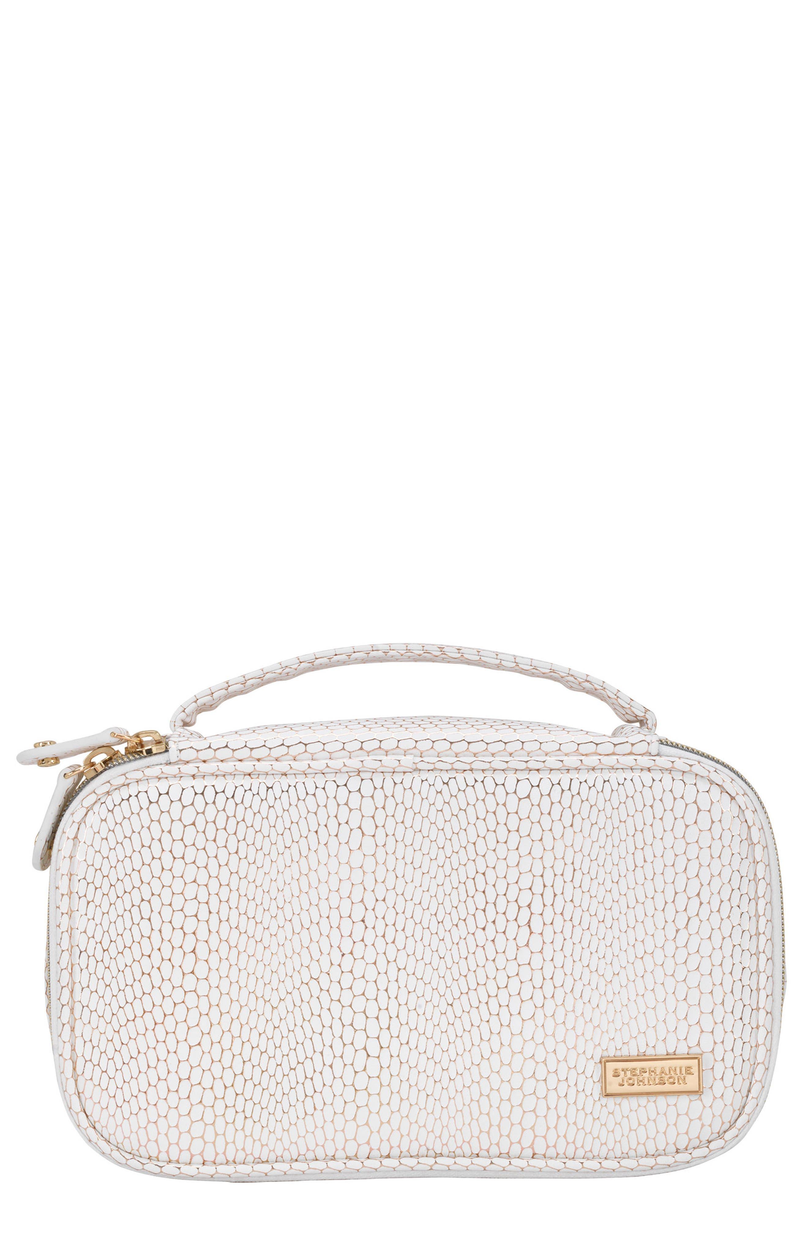 Havana Grace Brush Case,                         Main,                         color, White