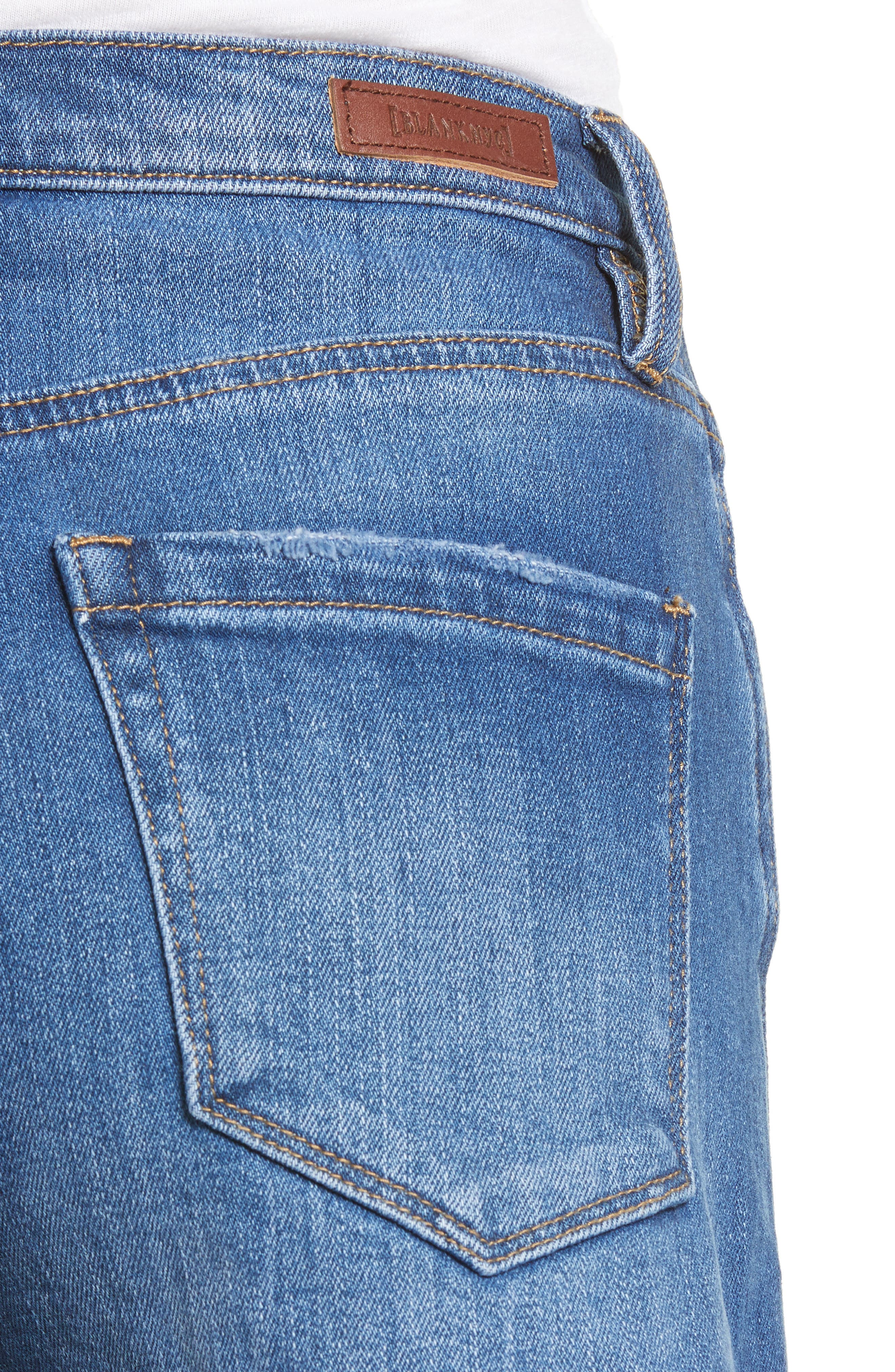 The Lenox High Waist Cutoff Denim Shorts,                             Alternate thumbnail 4, color,                             Low Key