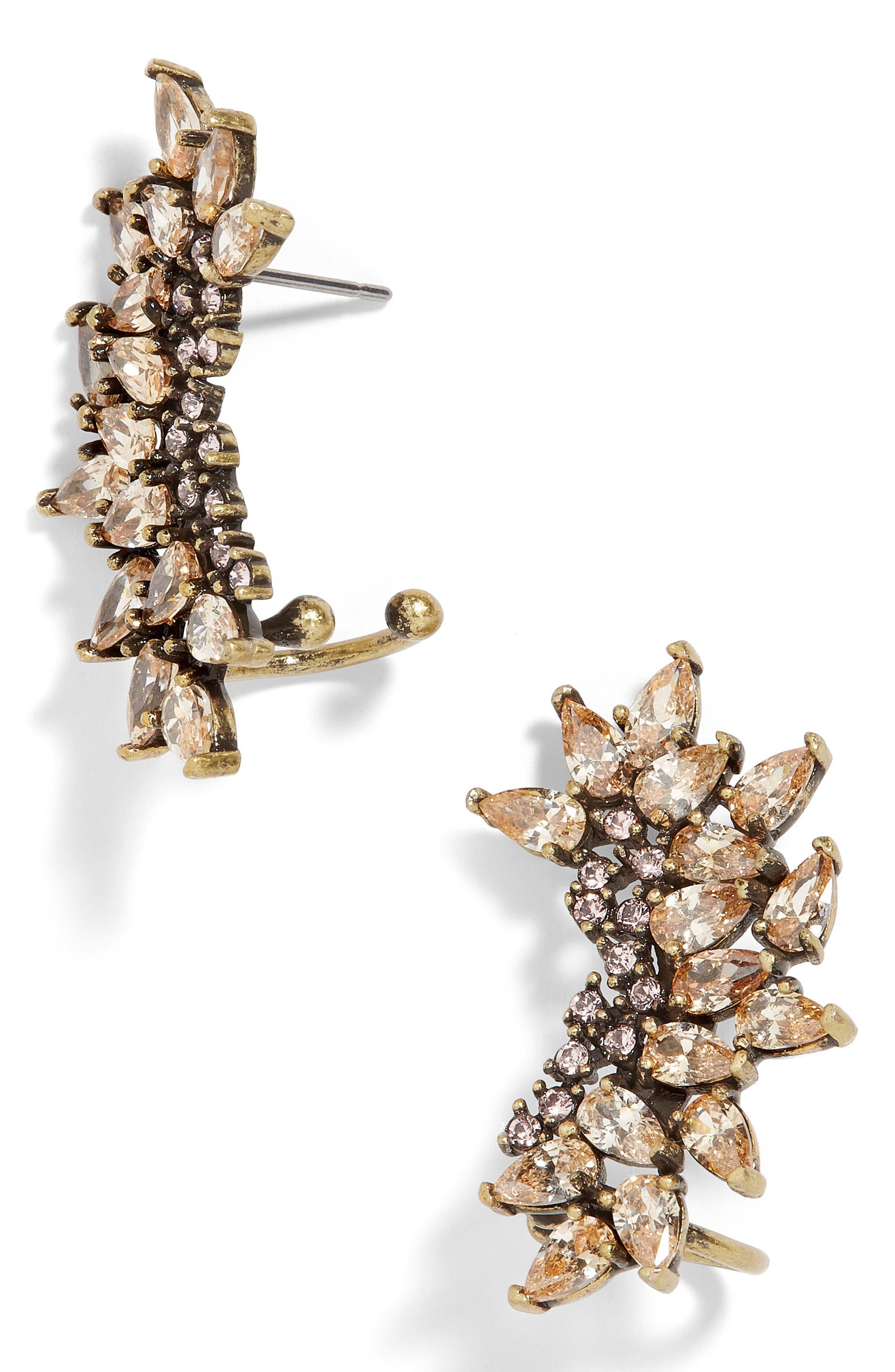 Bordeaux Crystal Drop Earrings,                             Main thumbnail 1, color,                             Silk