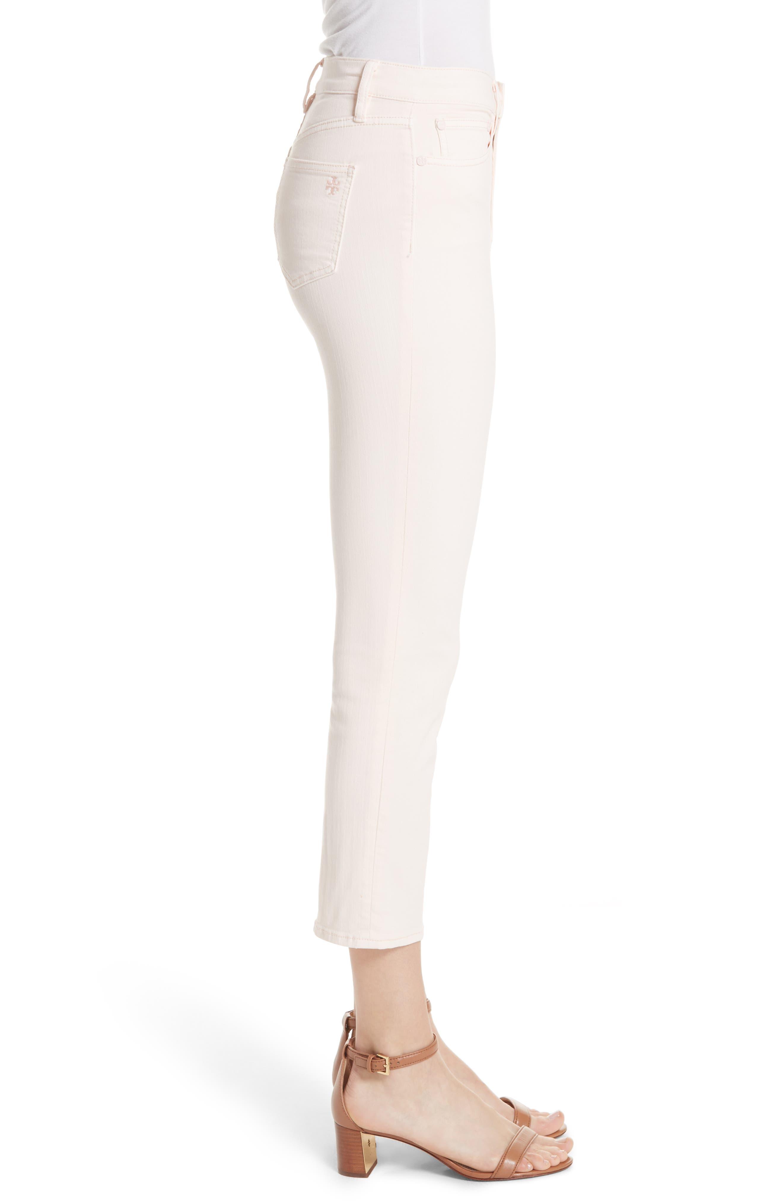 Mara Crop Skinny Jeans,                             Alternate thumbnail 3, color,                             Ballet Pink