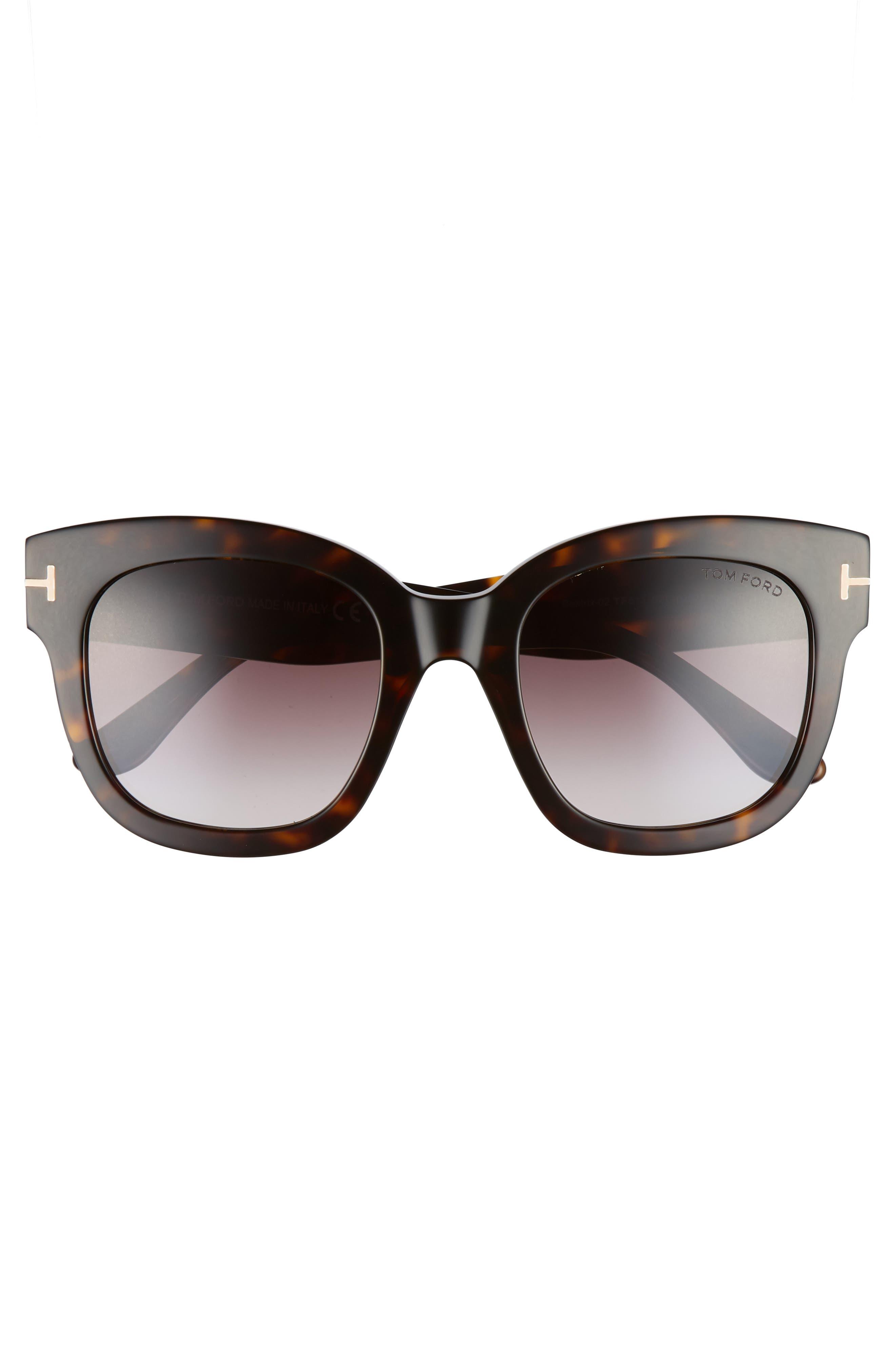 Beatrix 52mm Sunglasses,                             Alternate thumbnail 3, color,                             Dark Havana/ Gradient Bordeaux