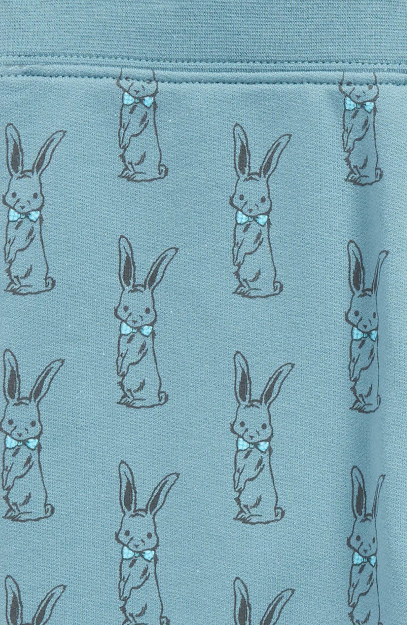 Peek Bunny Print Jogger Pants,                             Alternate thumbnail 2, color,                             Teal